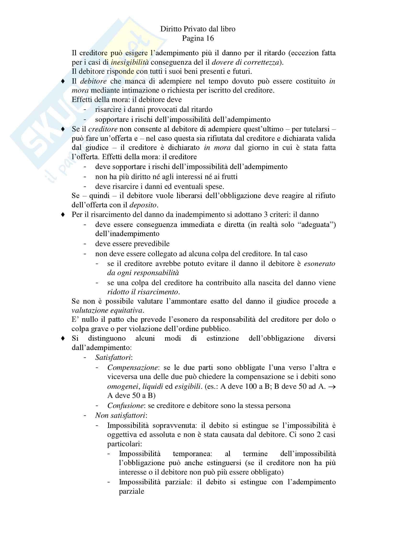 Riassunto esame Diritto Privato, prof. Zanghi, libro consigliato Linguaggio e Regole del Diritto Privato, Iudica, Zatti Pag. 16
