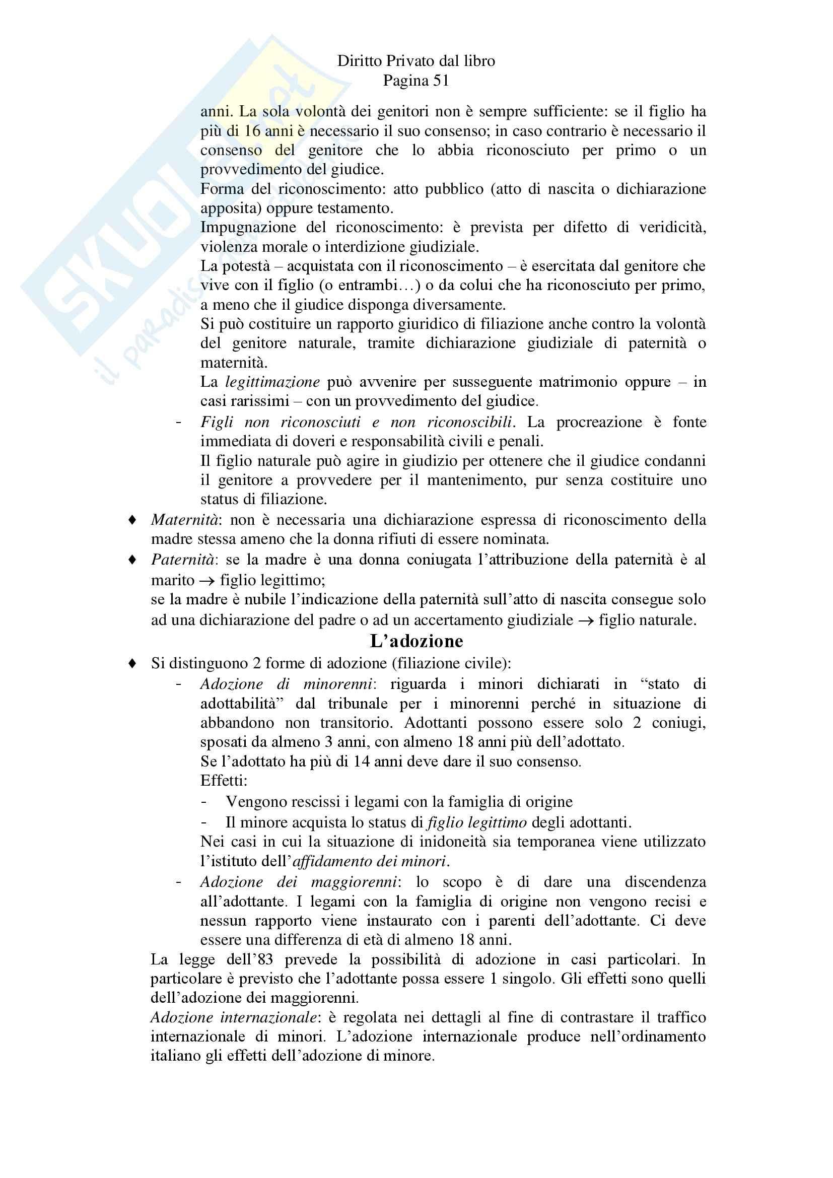 Riassunto esame Diritto Privato, prof. Zanghi, libro consigliato Linguaggio e Regole del Diritto Privato, Iudica, Zatti Pag. 51