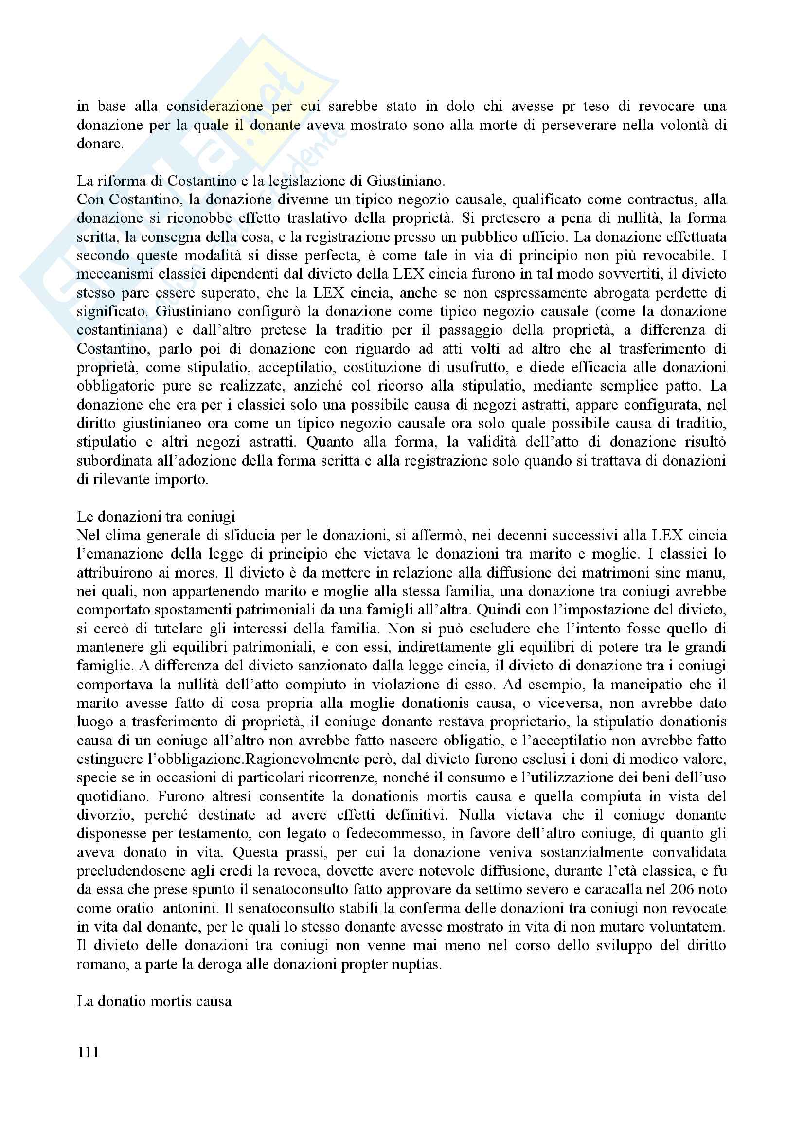 Riassunto per l'esame di istituzioni del diritto romano, prof. Dalla Massara Pag. 111