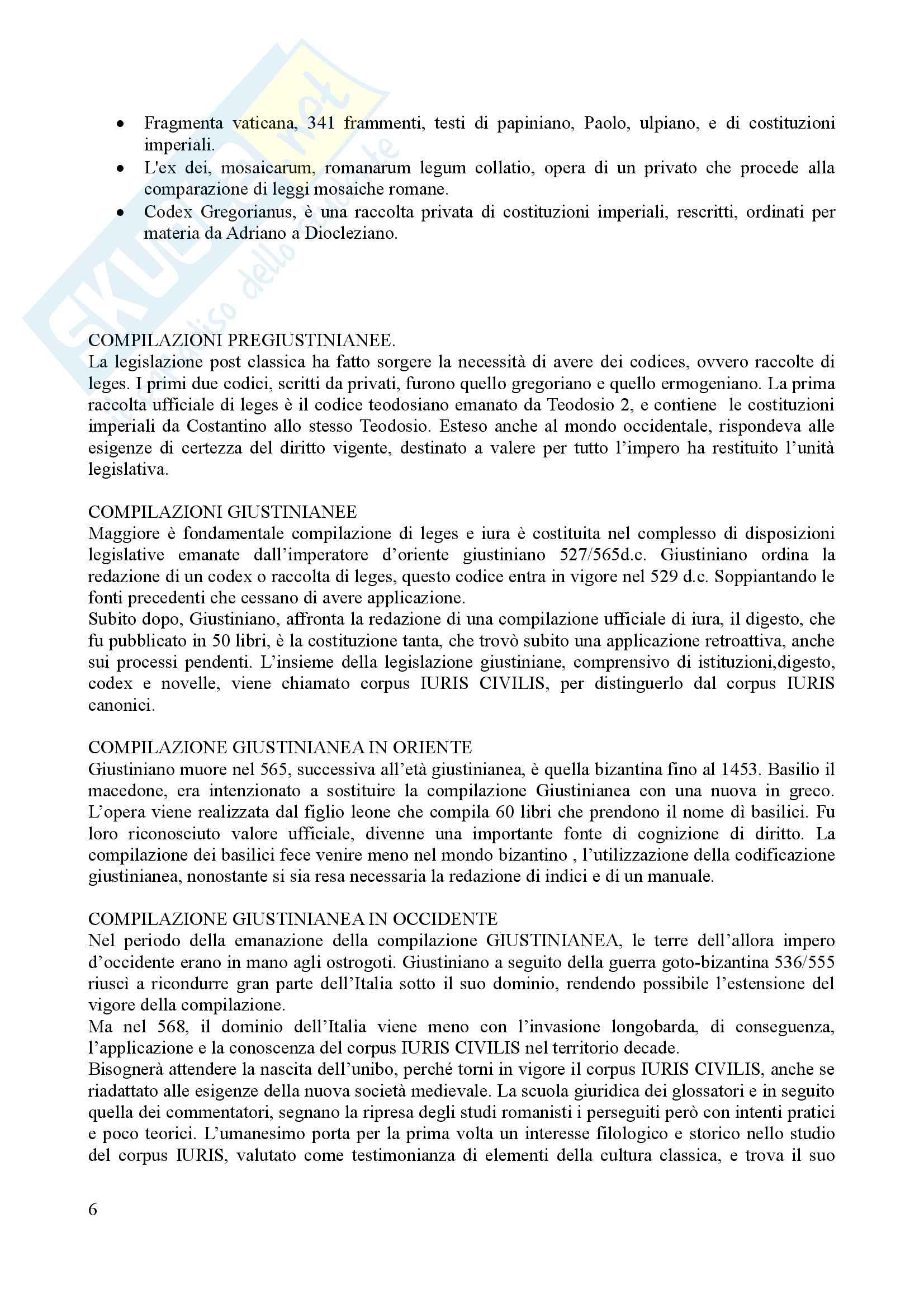 Riassunto per l'esame di istituzioni del diritto romano, prof. Dalla Massara Pag. 6
