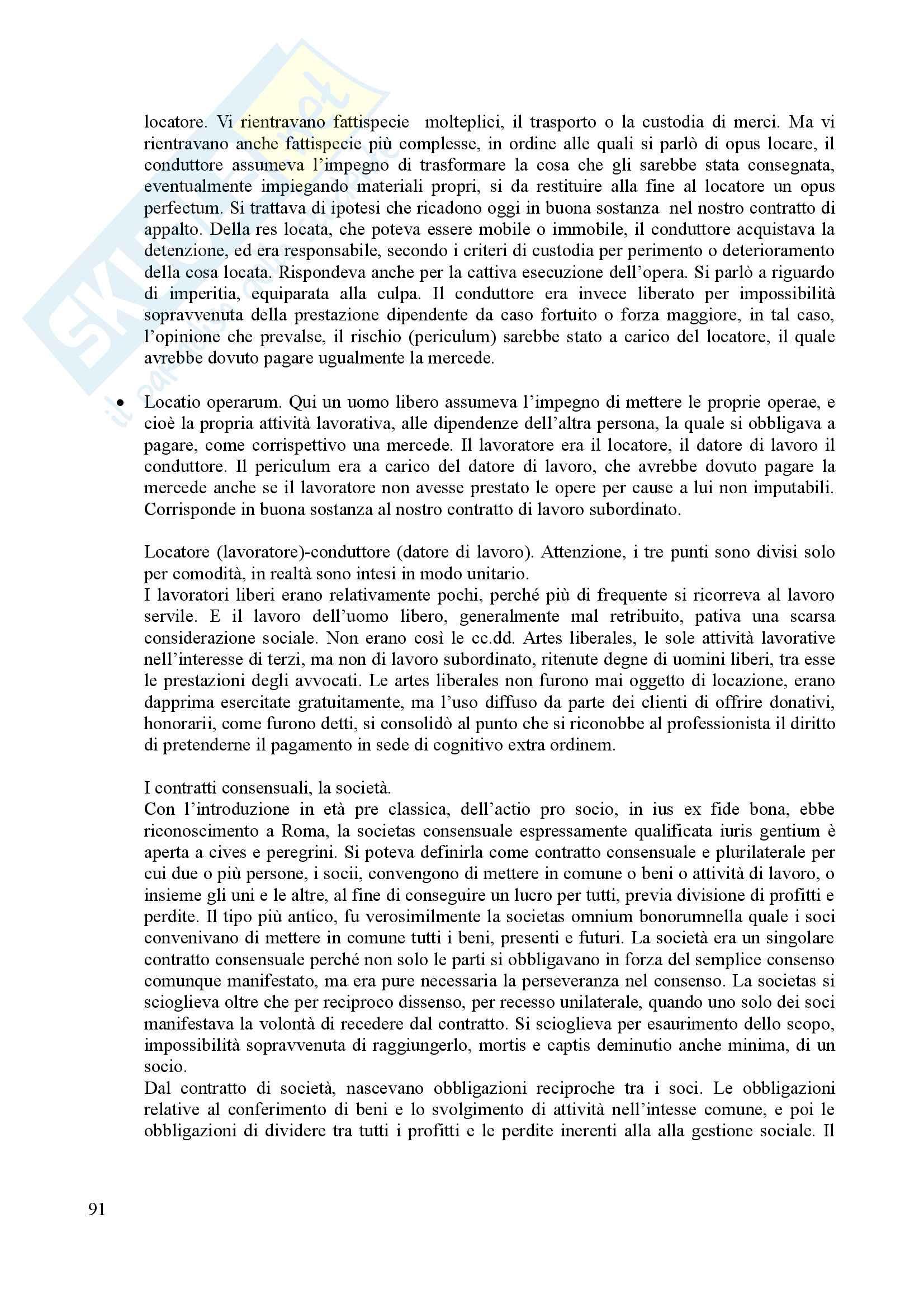 Riassunto per l'esame di istituzioni del diritto romano, prof. Dalla Massara Pag. 91