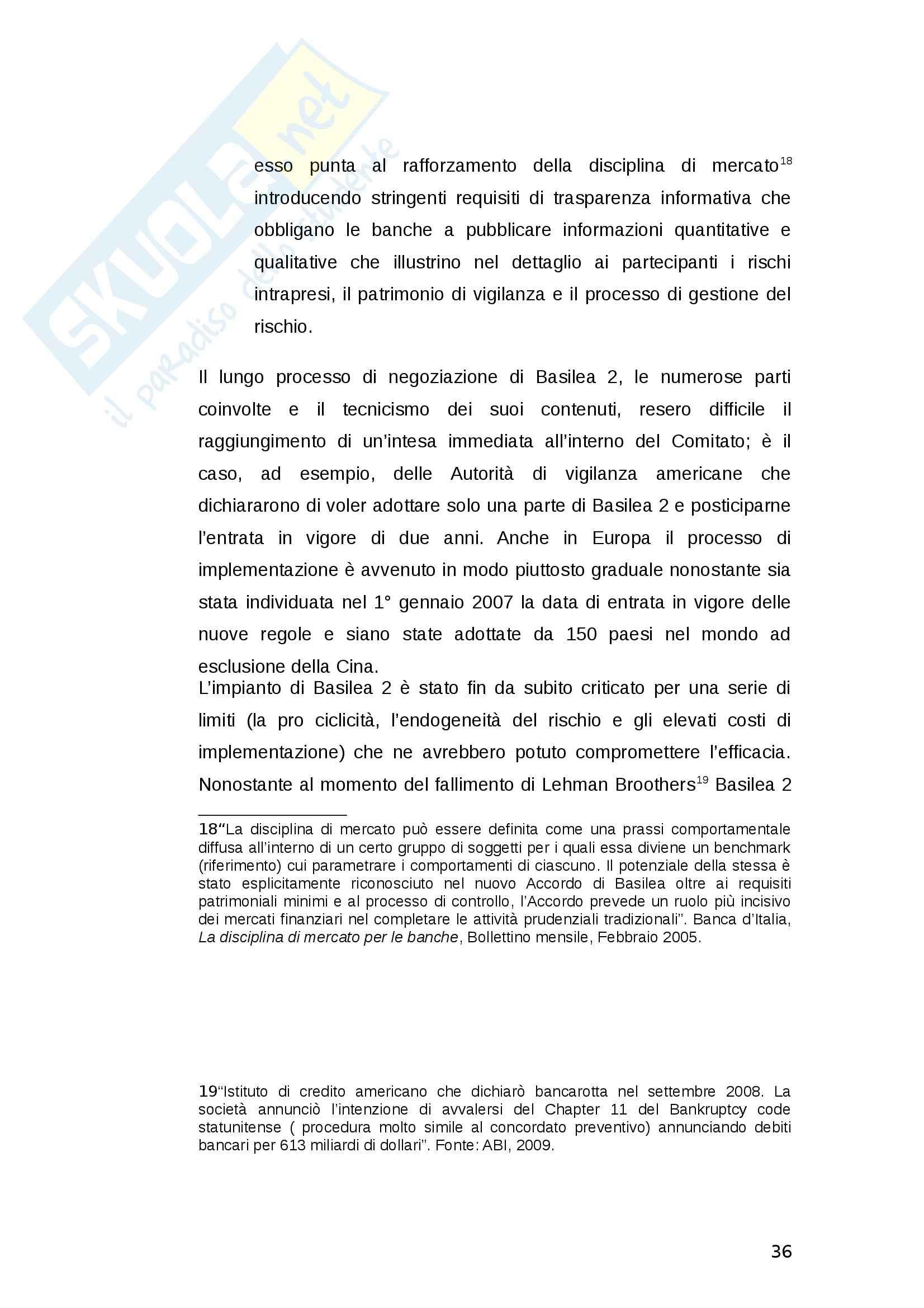 La gestione del rischio di liquidità delle banche - Tesi Pag. 36