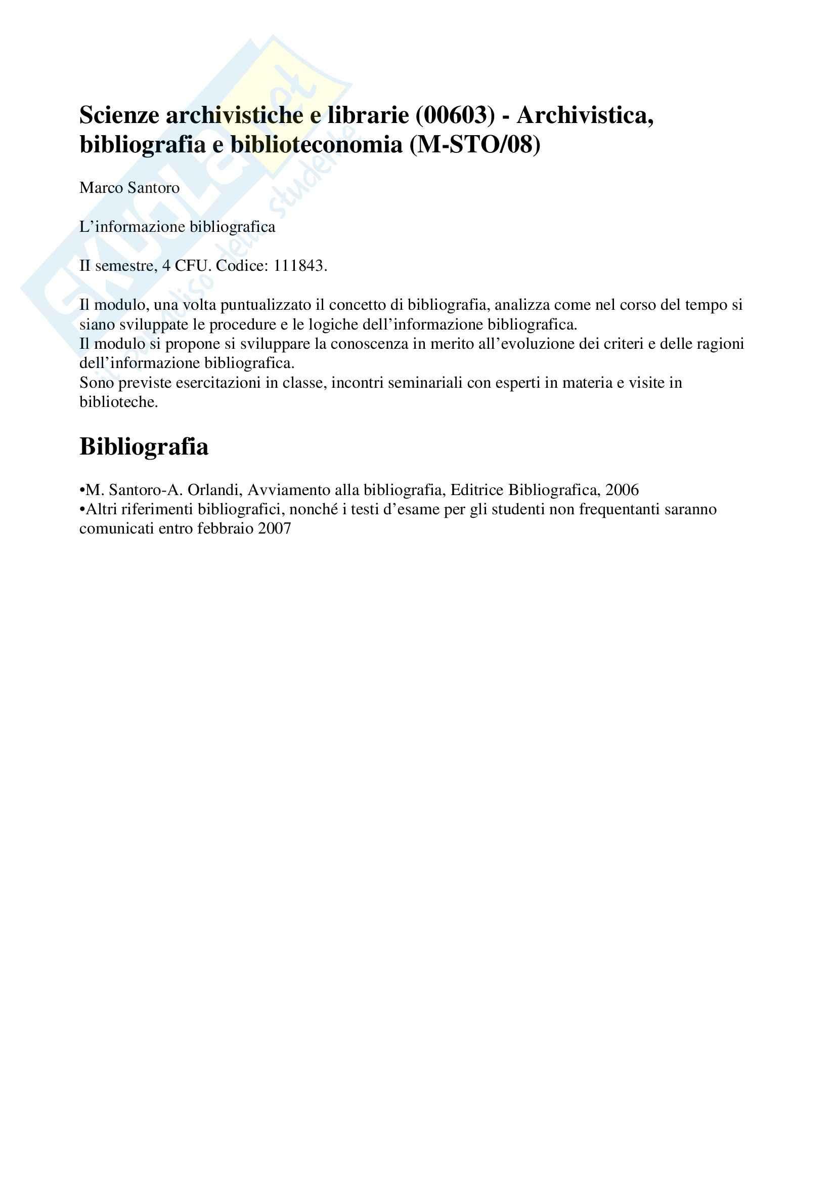 Informazione bibliografica