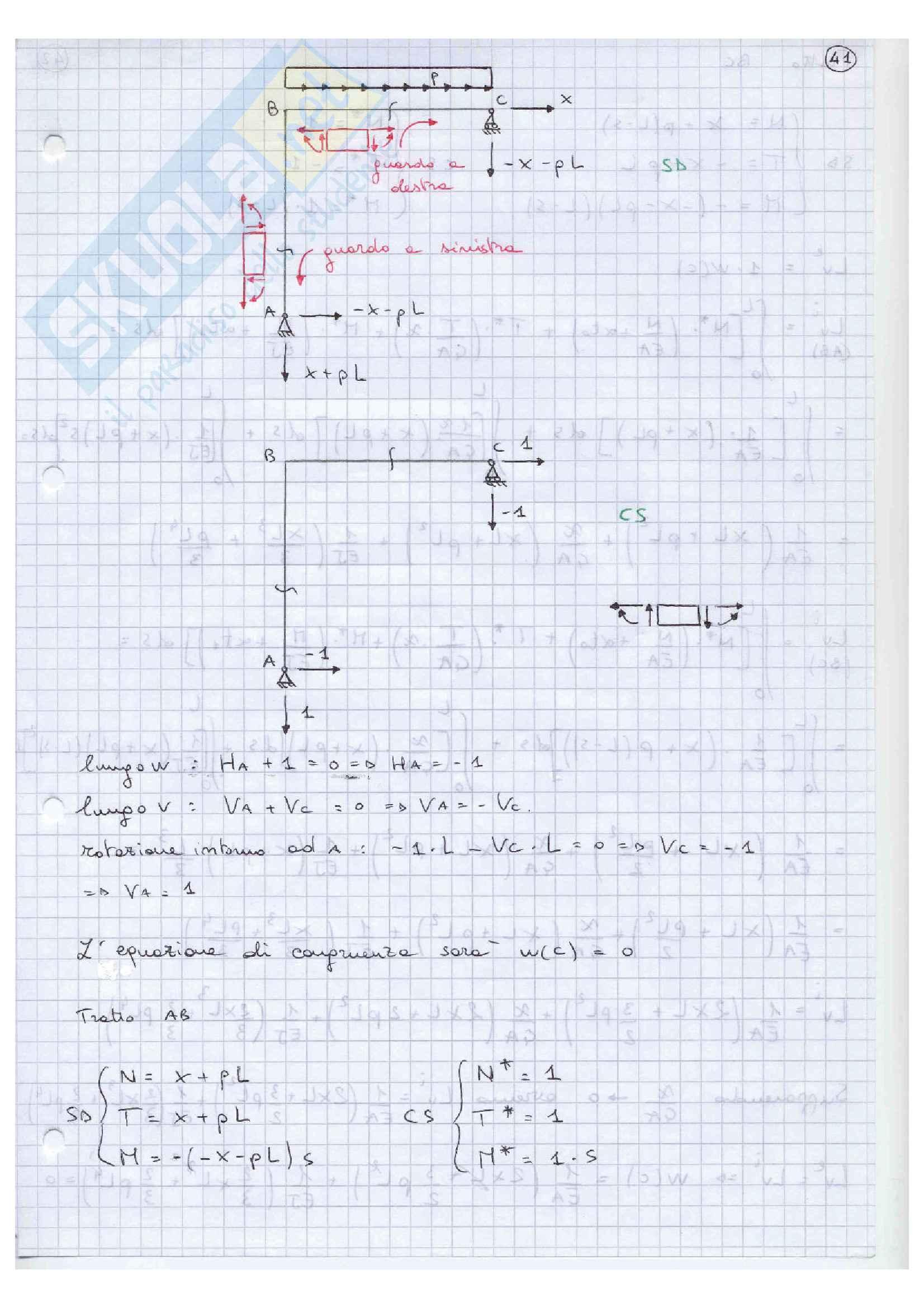 Scienza delle costruzioni 2 Esercizi Pag. 41