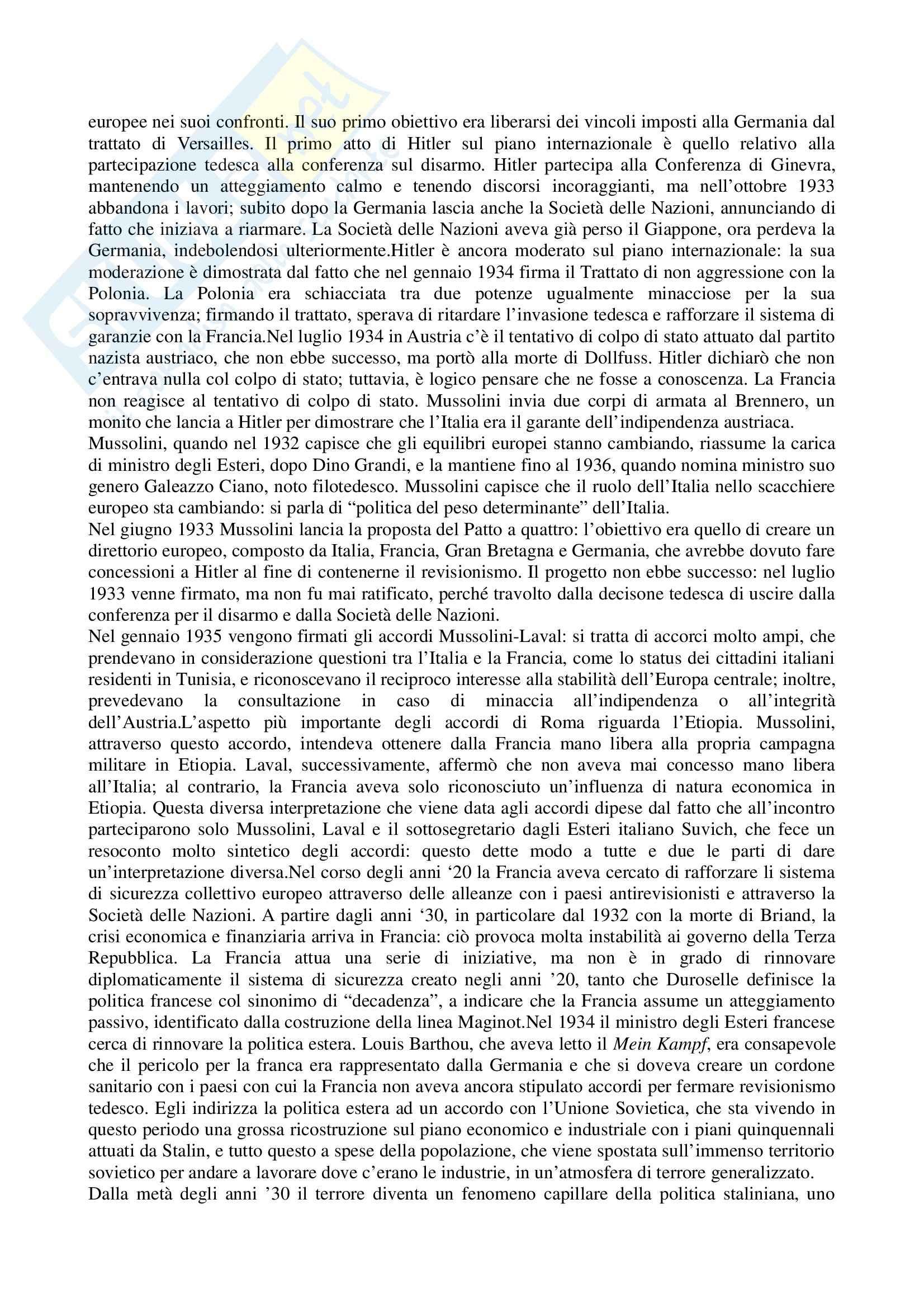 Lezioni, Storia delle relazioni internazionali Pag. 21