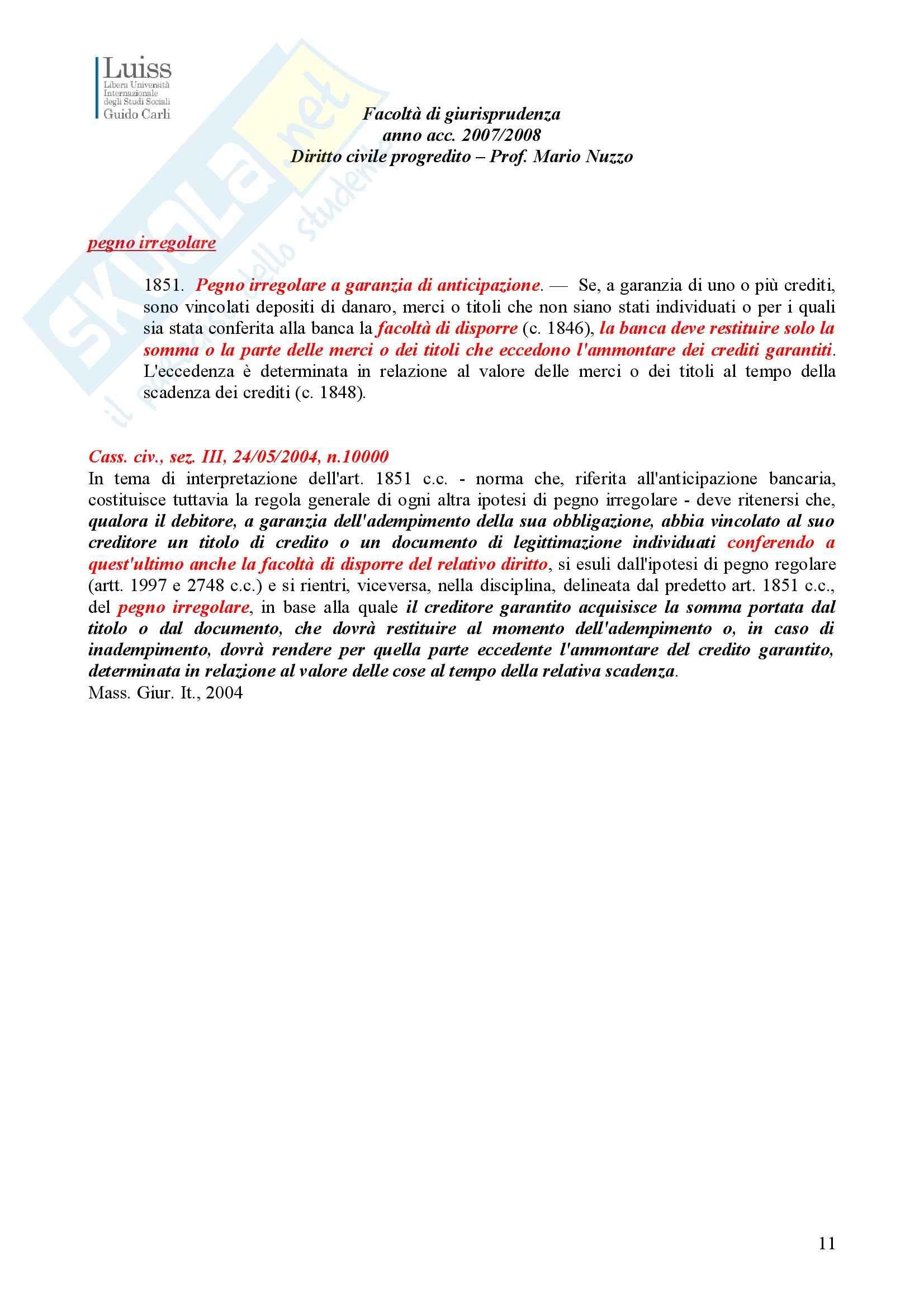 Diritto civile - pegno e ipoteca Pag. 11