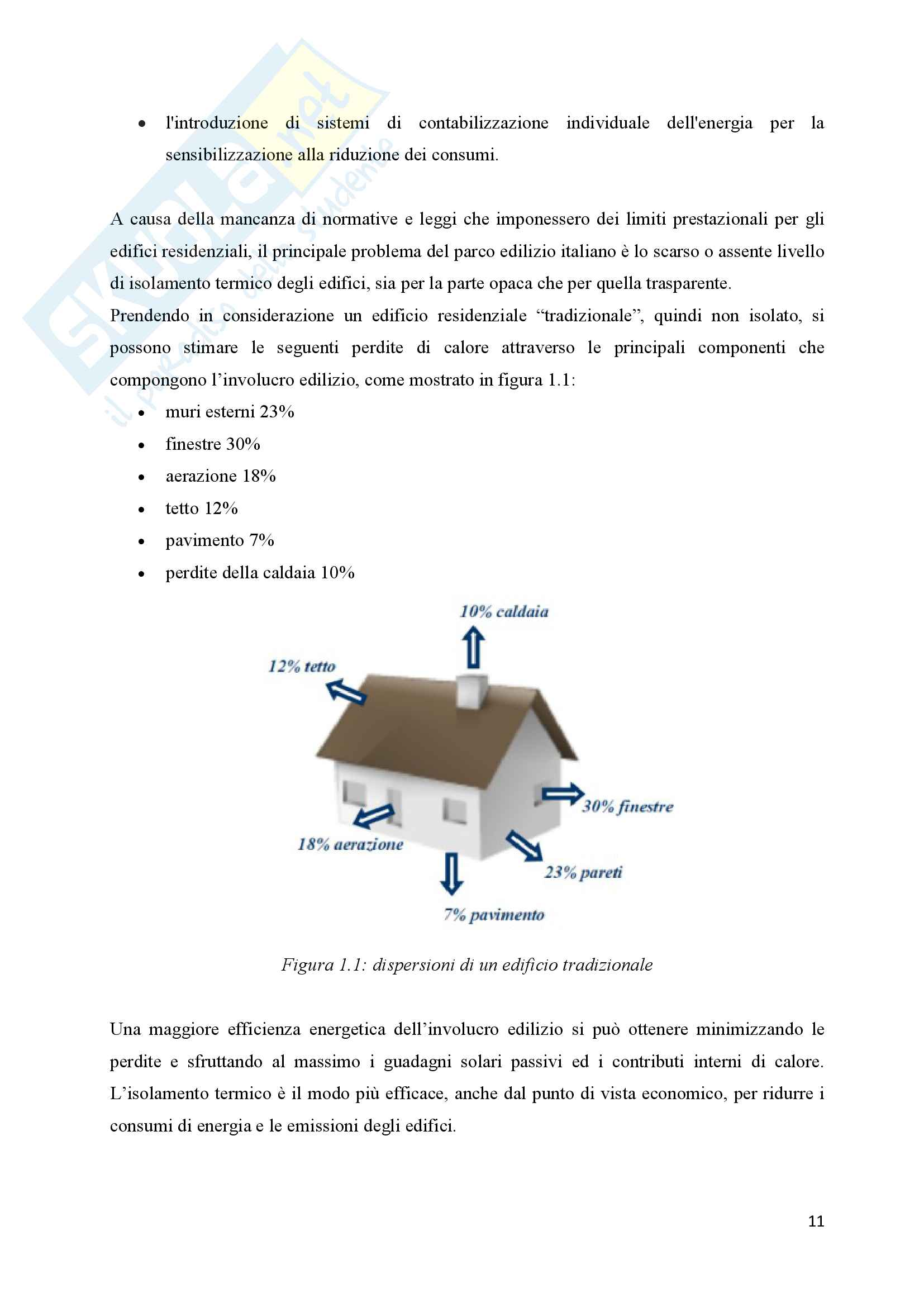 Scenari di riqualificazione energetica di un appartamento, Tesi Pag. 11