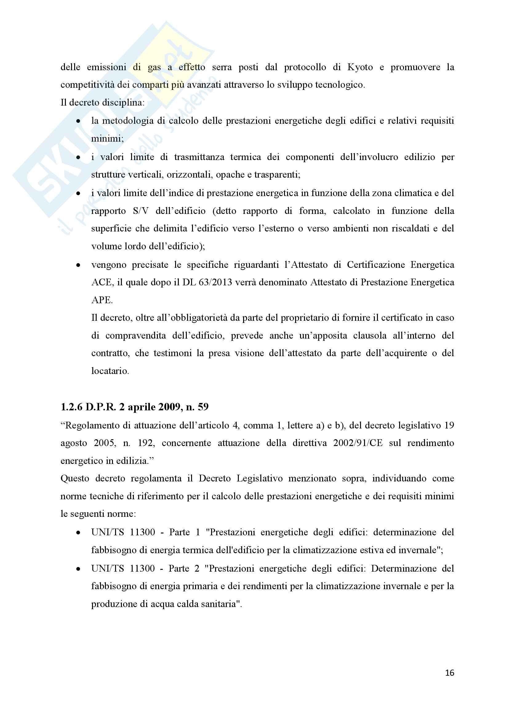 Scenari di riqualificazione energetica di un appartamento, Tesi Pag. 16