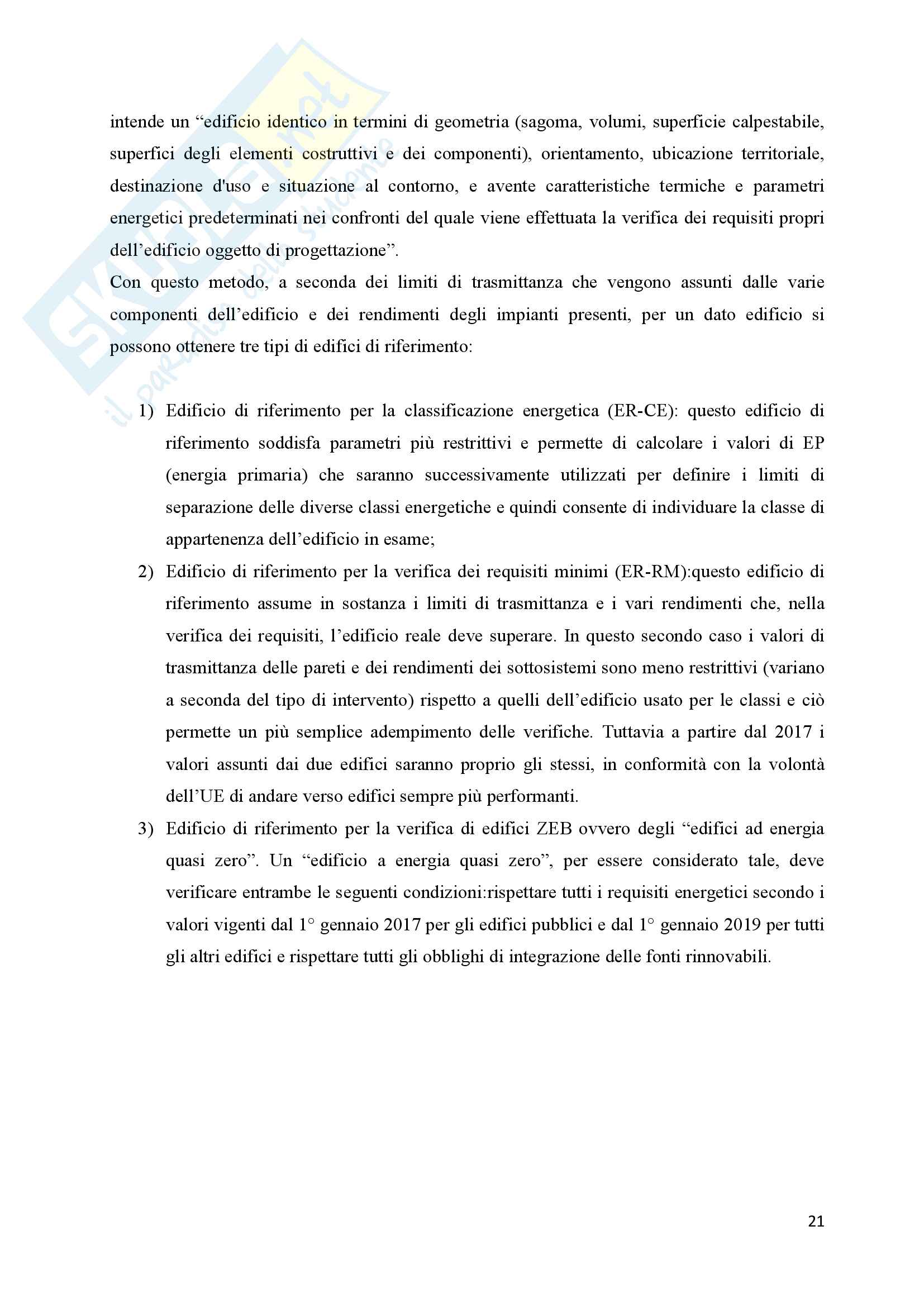 Scenari di riqualificazione energetica di un appartamento, Tesi Pag. 21