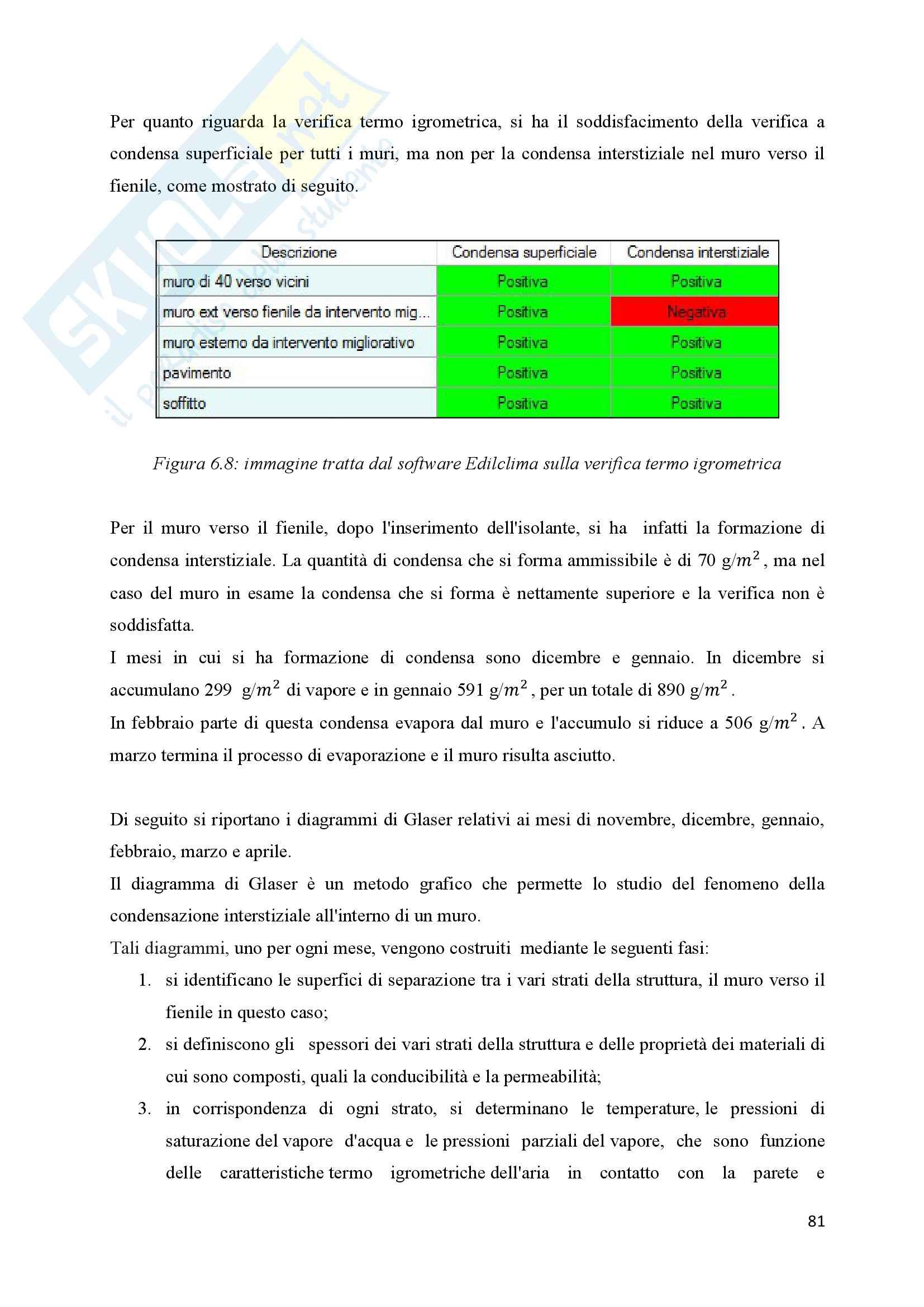 Scenari di riqualificazione energetica di un appartamento, Tesi Pag. 81