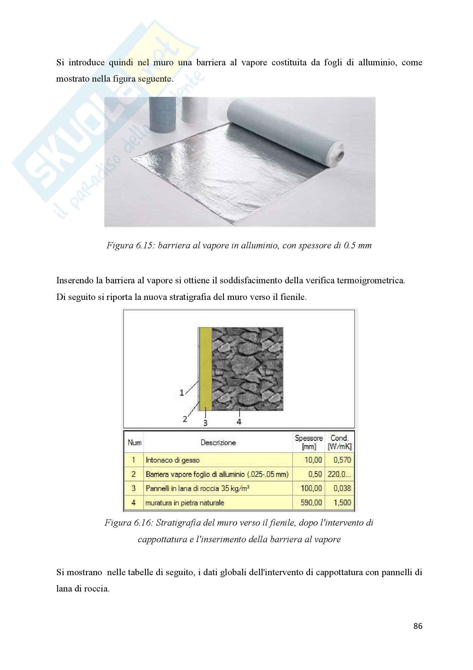 Scenari di riqualificazione energetica di un appartamento, Tesi Pag. 86