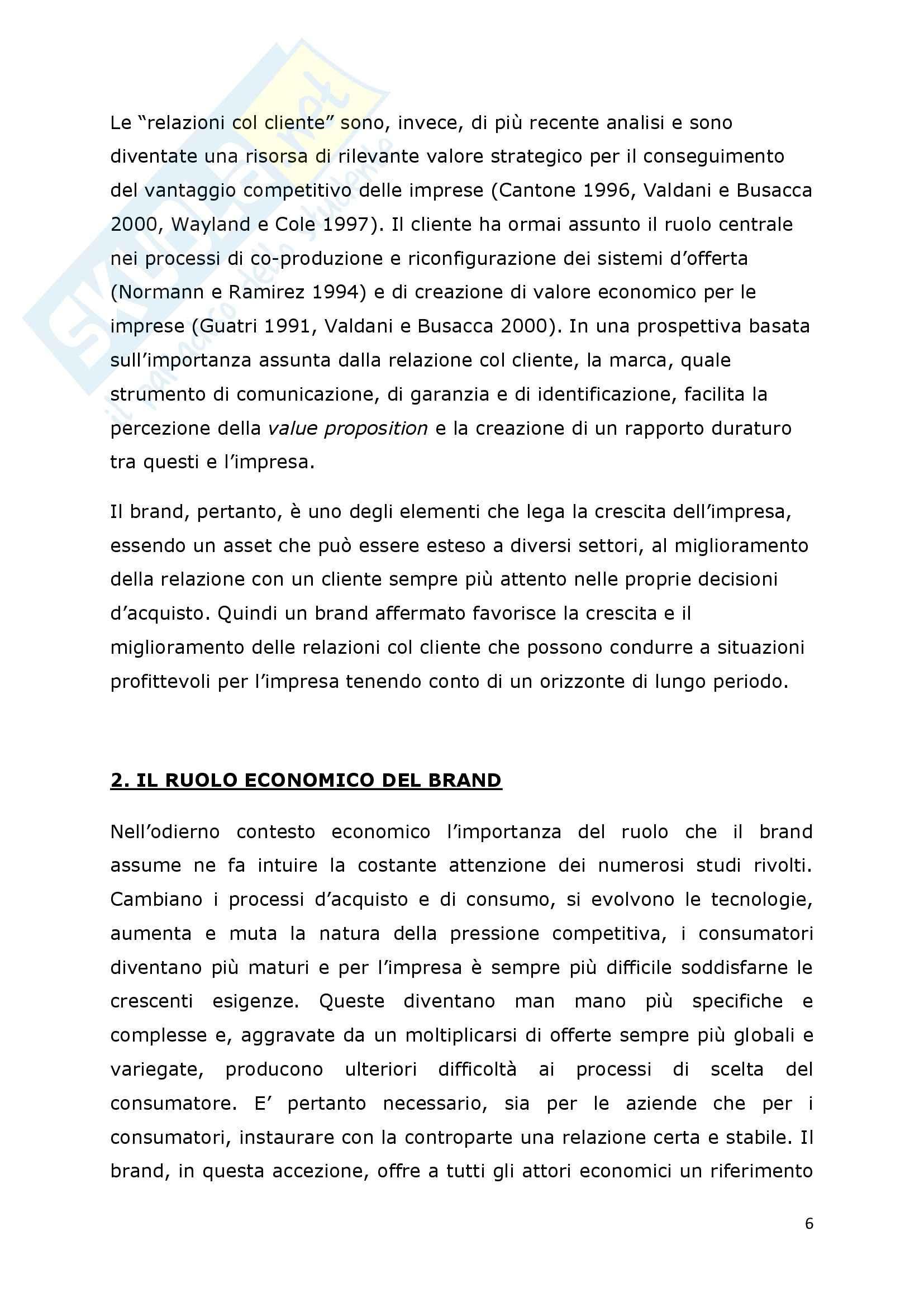 Tesi - I fattori di successo della brand extension: il ruolo del brand to category fit – il caso Callipo Pag. 6