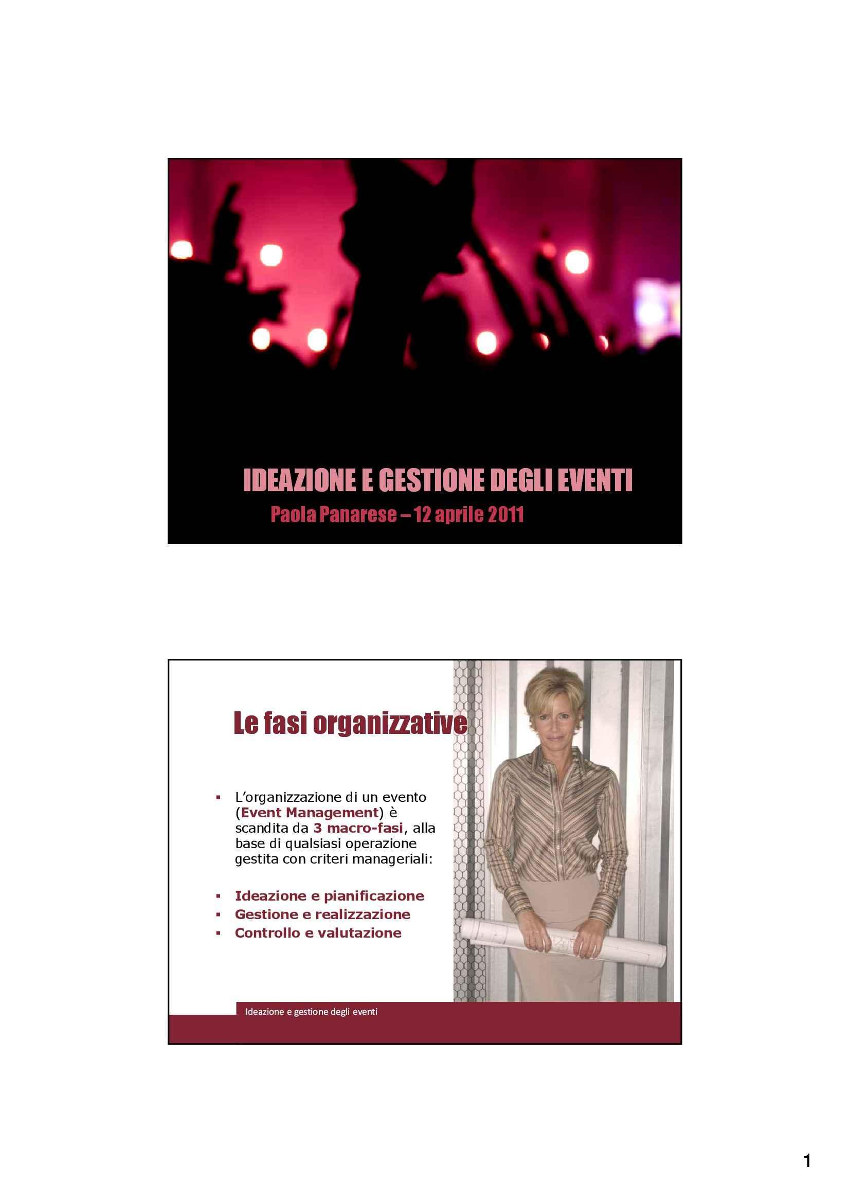 Comunicazione evento - Organizzazione