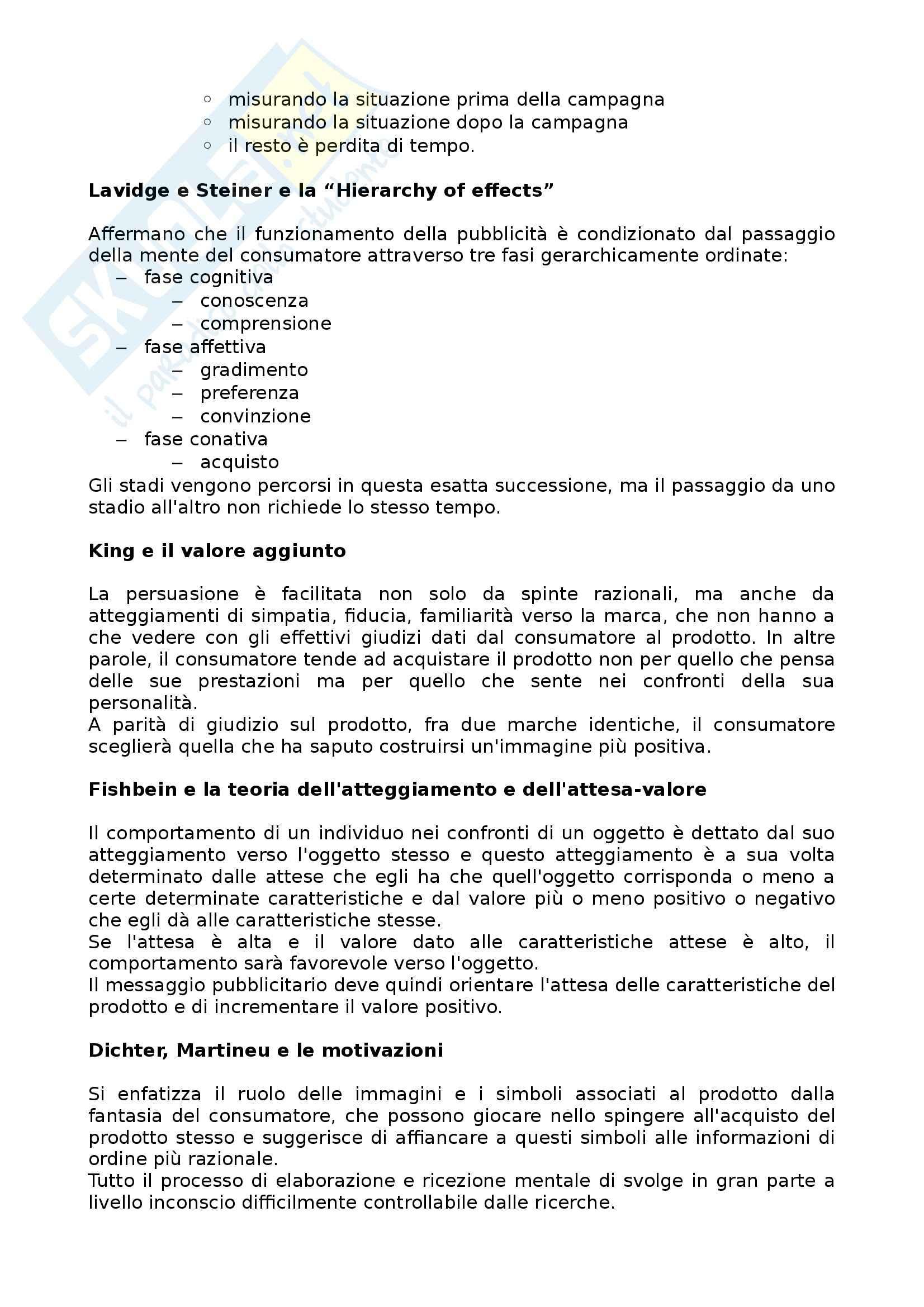 Teorie e Tecniche della comunicazione pubblicitaria - pubblicità Pag. 6