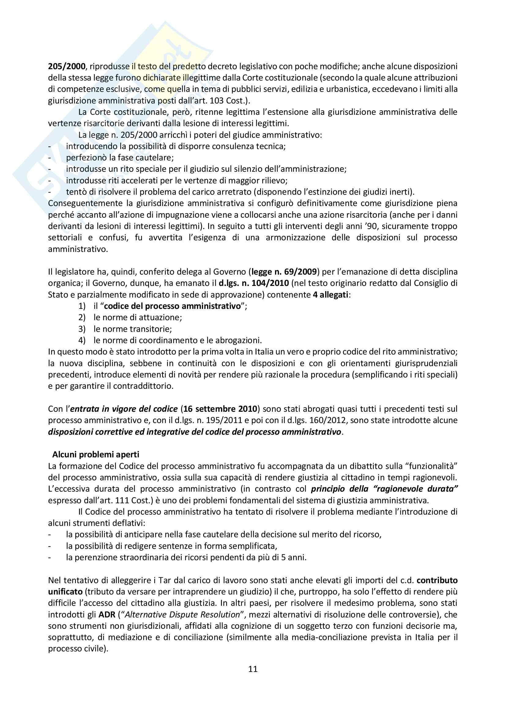 Riassunto esame Giustizia Amministrativa, prof. Dugato, libro consigliato Giustizia Amministrativa, Travi Pag. 11