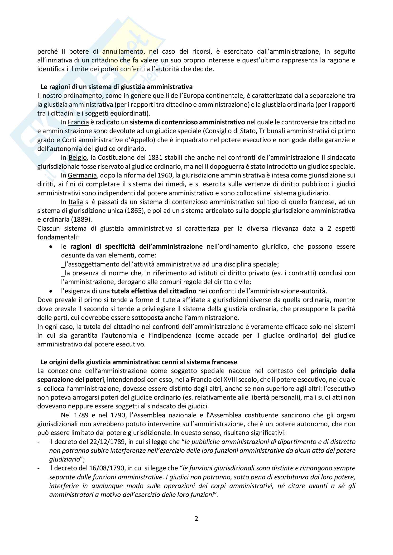 Riassunto esame Giustizia Amministrativa, prof. Dugato, libro consigliato Giustizia Amministrativa, Travi Pag. 2