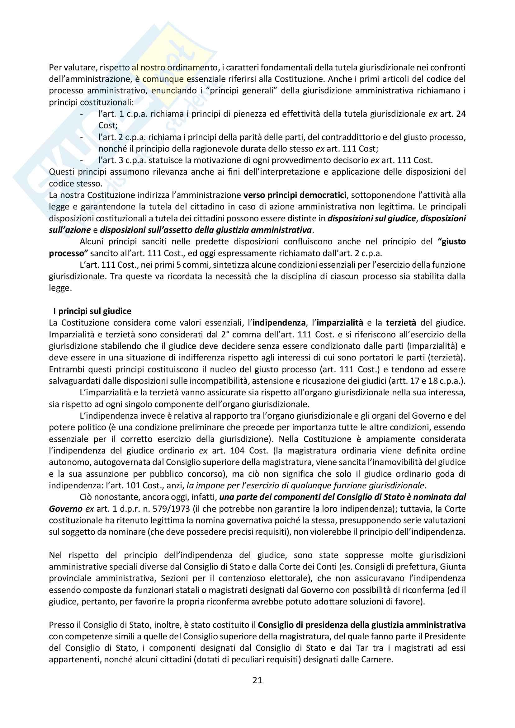 Riassunto esame Giustizia Amministrativa, prof. Dugato, libro consigliato Giustizia Amministrativa, Travi Pag. 21