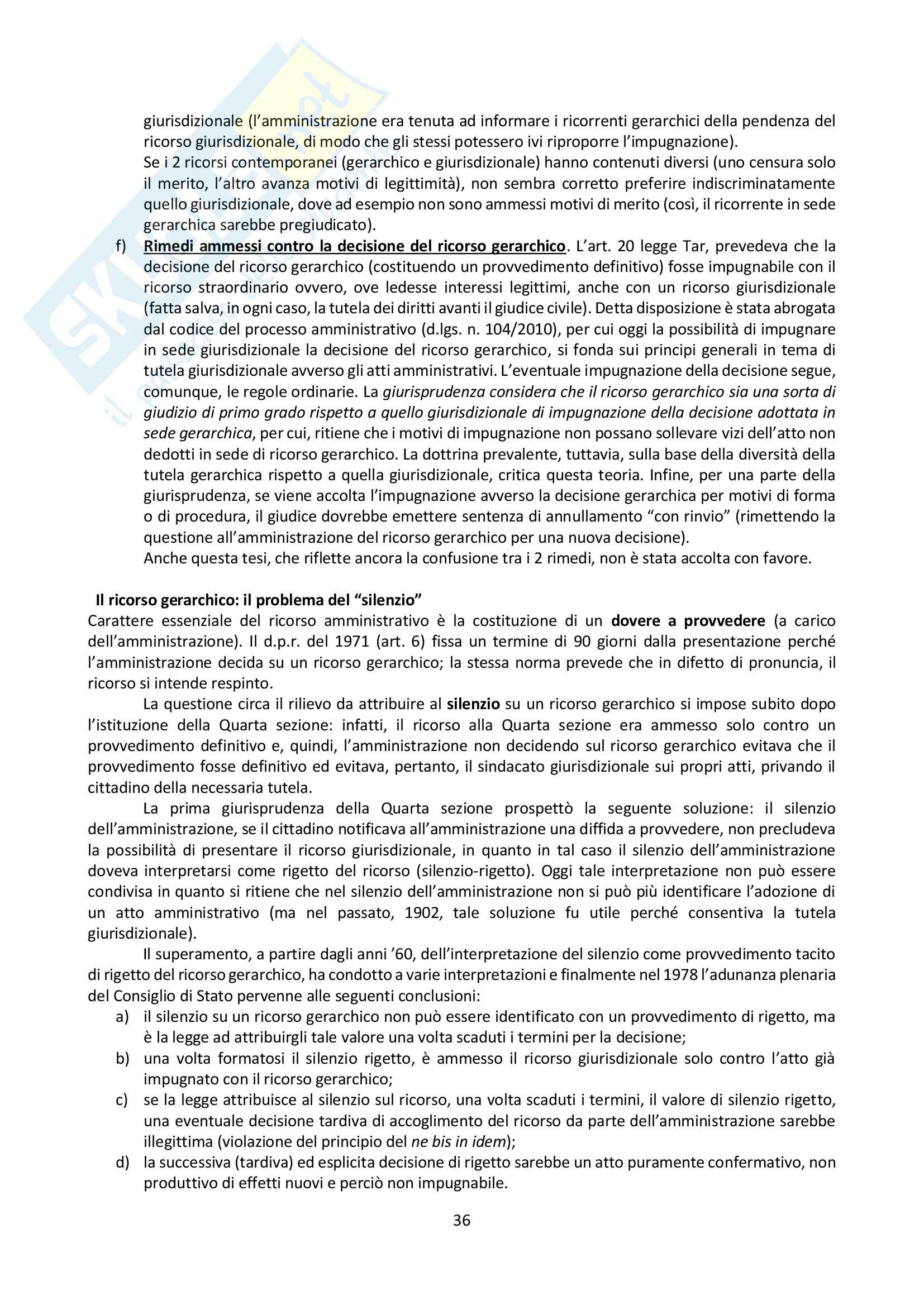 Riassunto esame Giustizia Amministrativa, prof. Dugato, libro consigliato Giustizia Amministrativa, Travi Pag. 36
