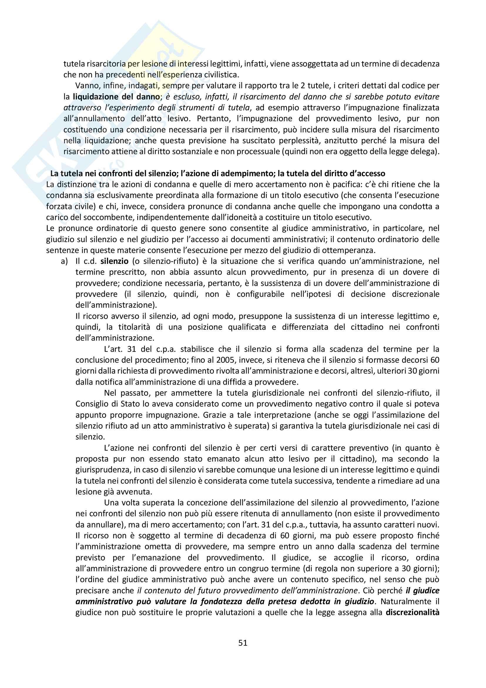 Riassunto esame Giustizia Amministrativa, prof. Dugato, libro consigliato Giustizia Amministrativa, Travi Pag. 51