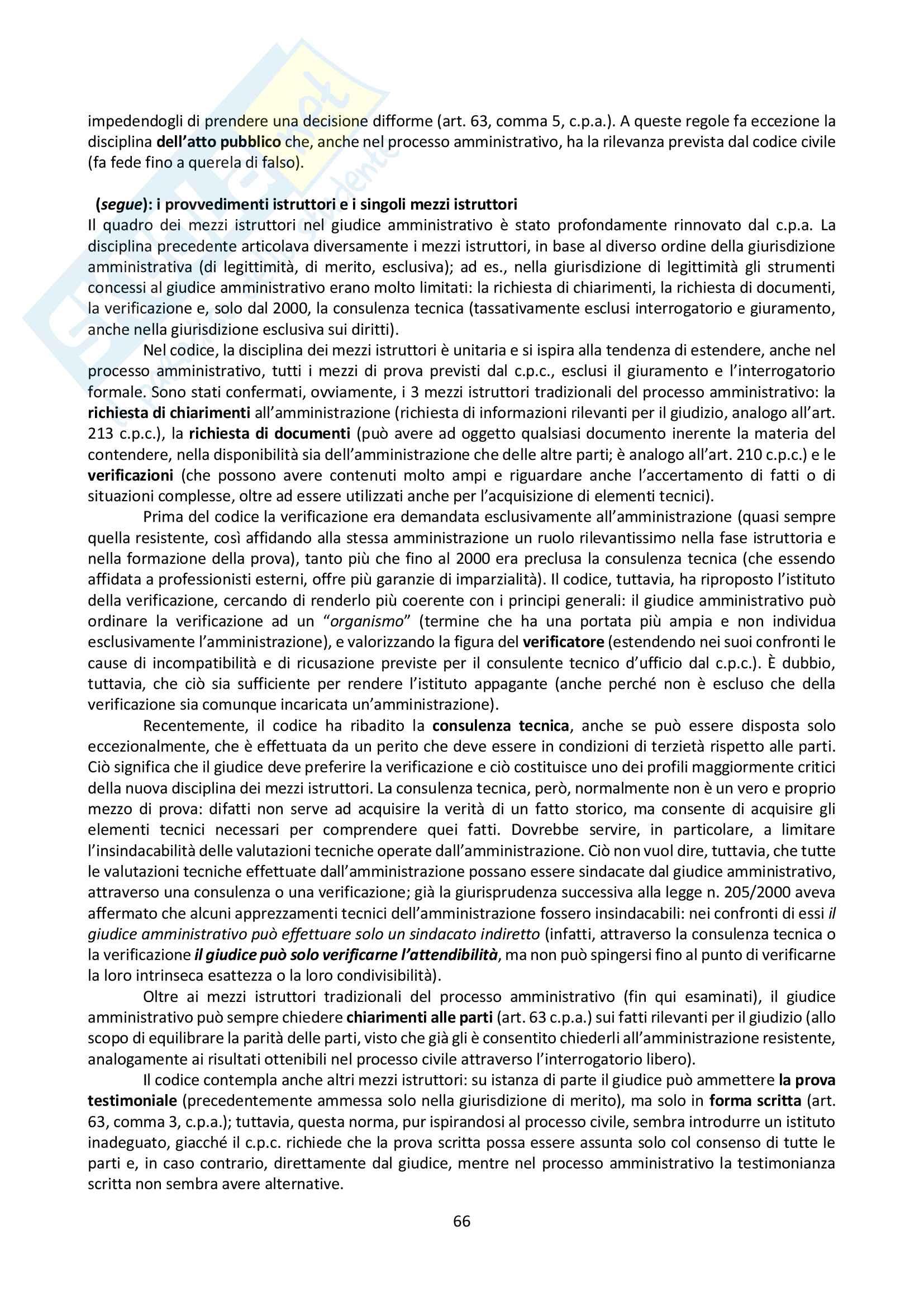 Riassunto esame Giustizia Amministrativa, prof. Dugato, libro consigliato Giustizia Amministrativa, Travi Pag. 66