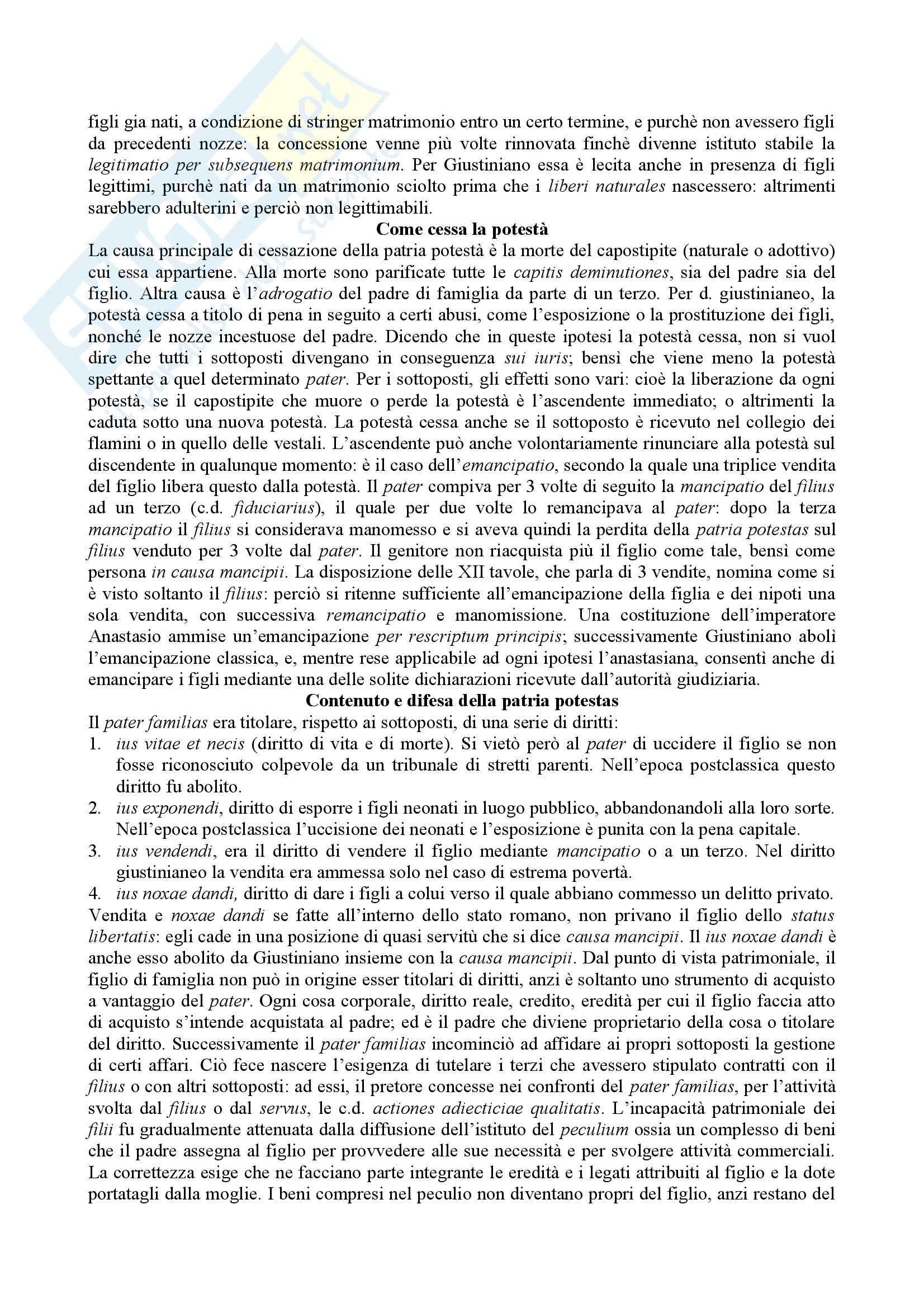 Diritto romano - la patria potestas Pag. 2