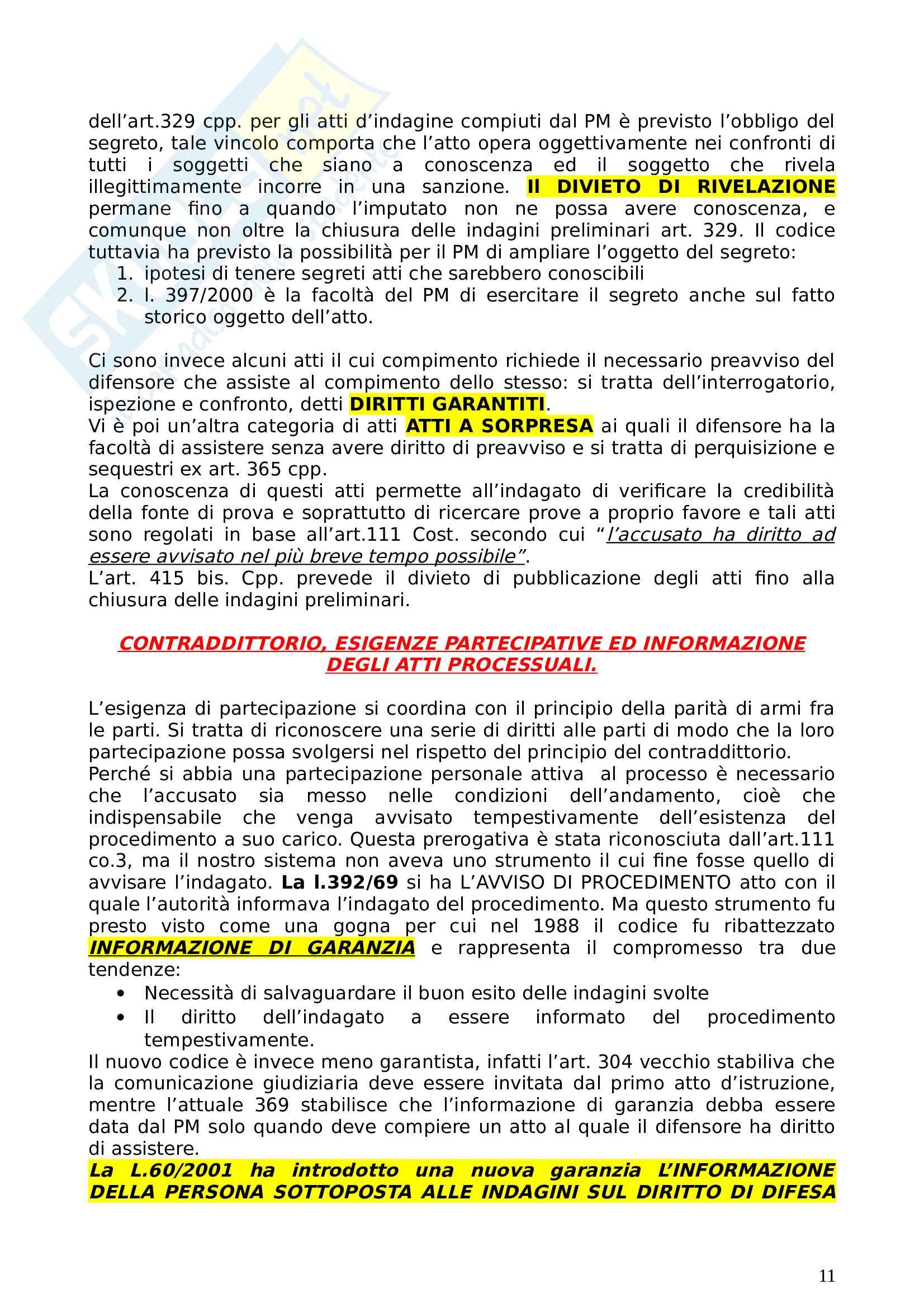 Schemi diritto processuale penale basati sul testo di Garofoli Pag. 11
