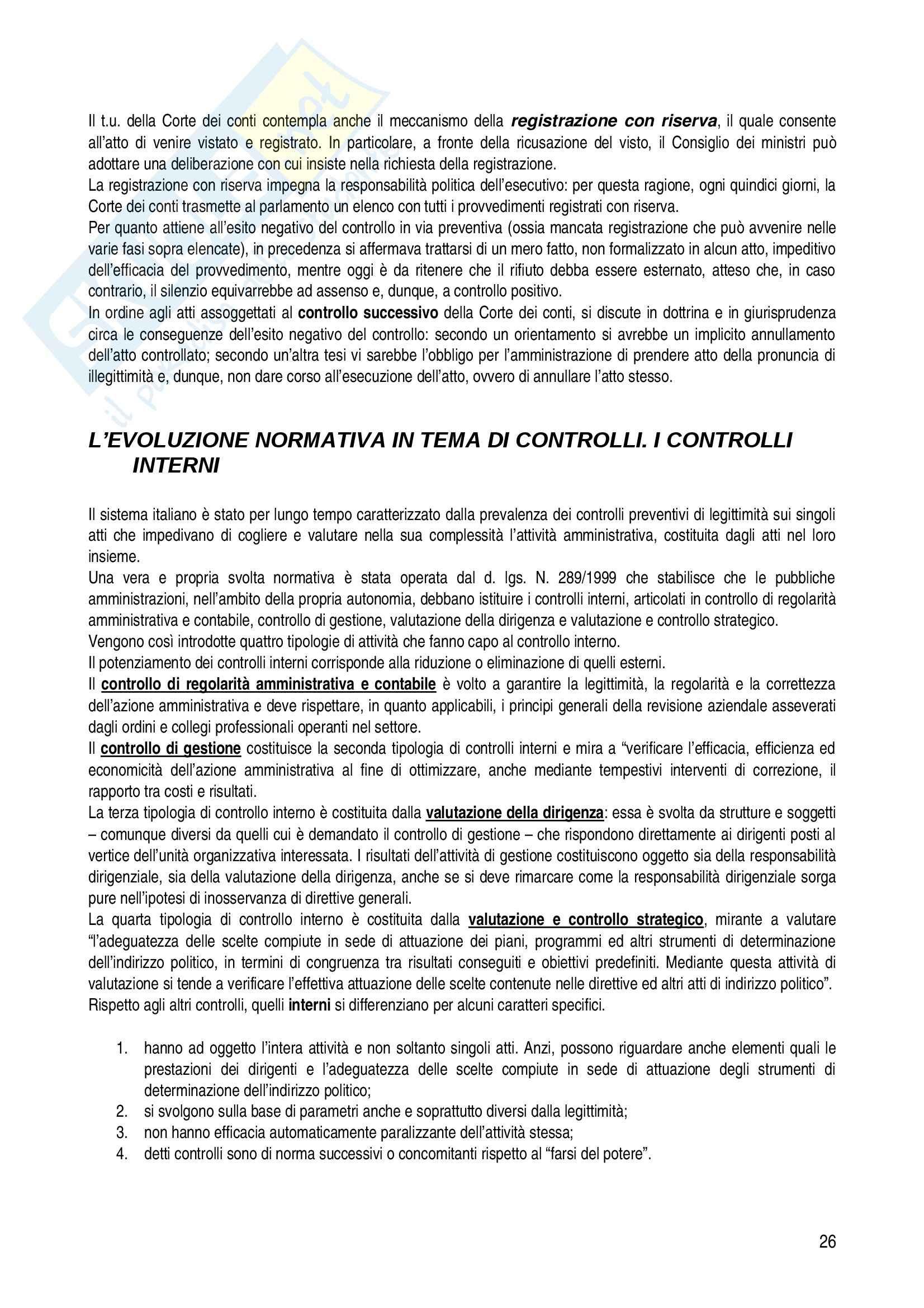 Riassunto esame diritto, prof. Corletto, libro consigliato Manuale di diritto amministrativo, Casetta Pag. 26