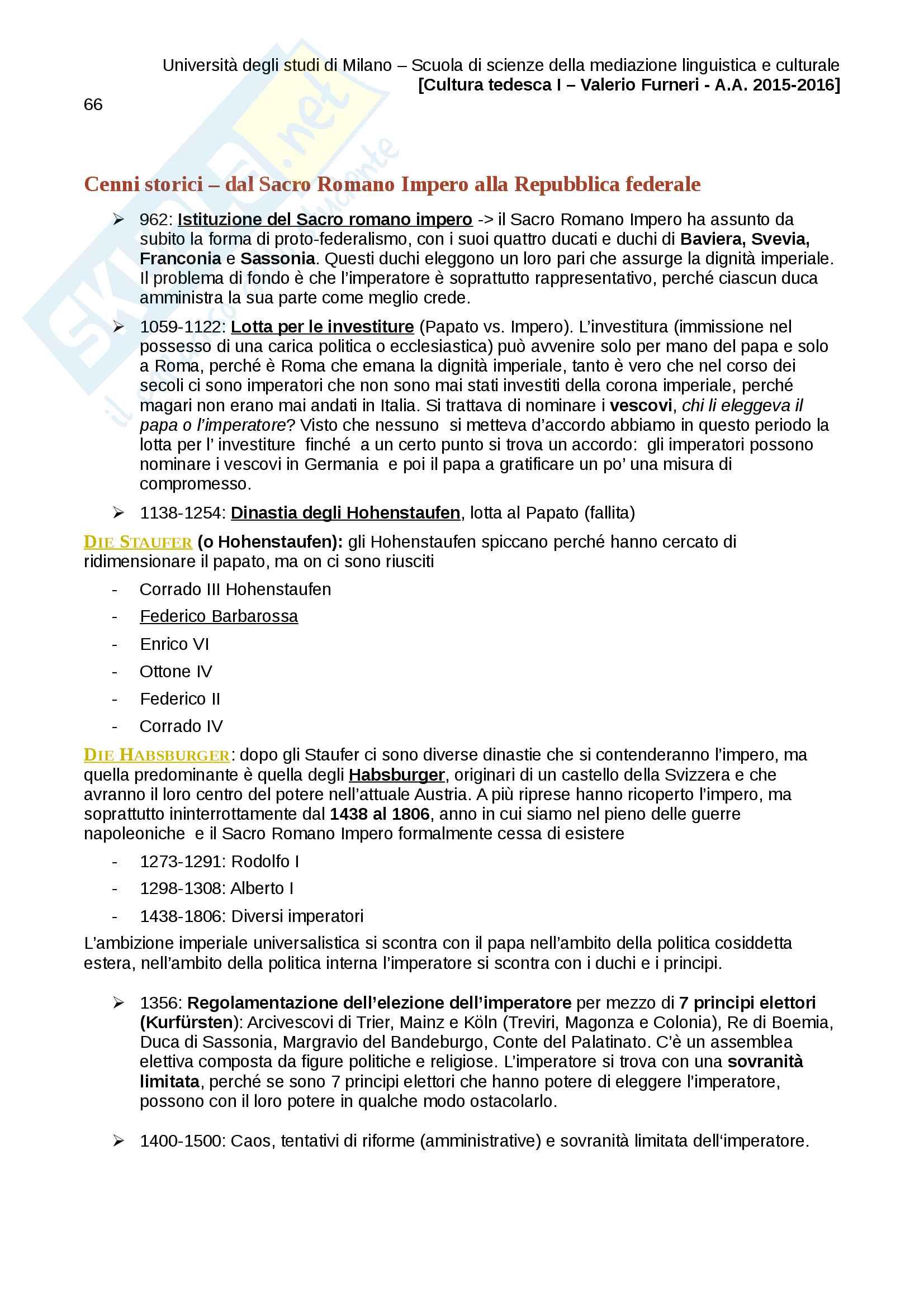 Appunti completi Cultura tedesca I Pag. 66