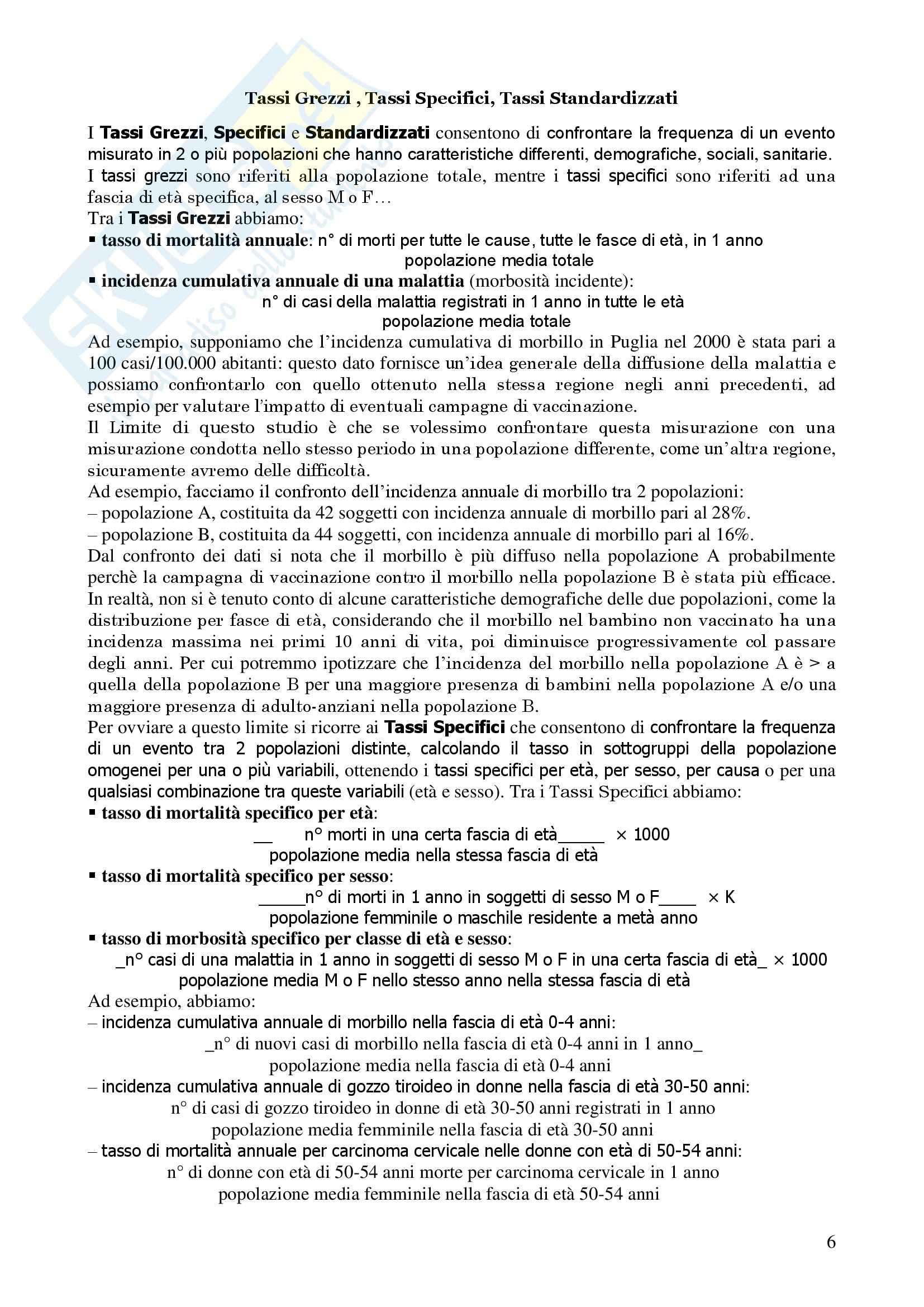 Metodologia Epidemiologica ed Igiene - Corso completo Pag. 6