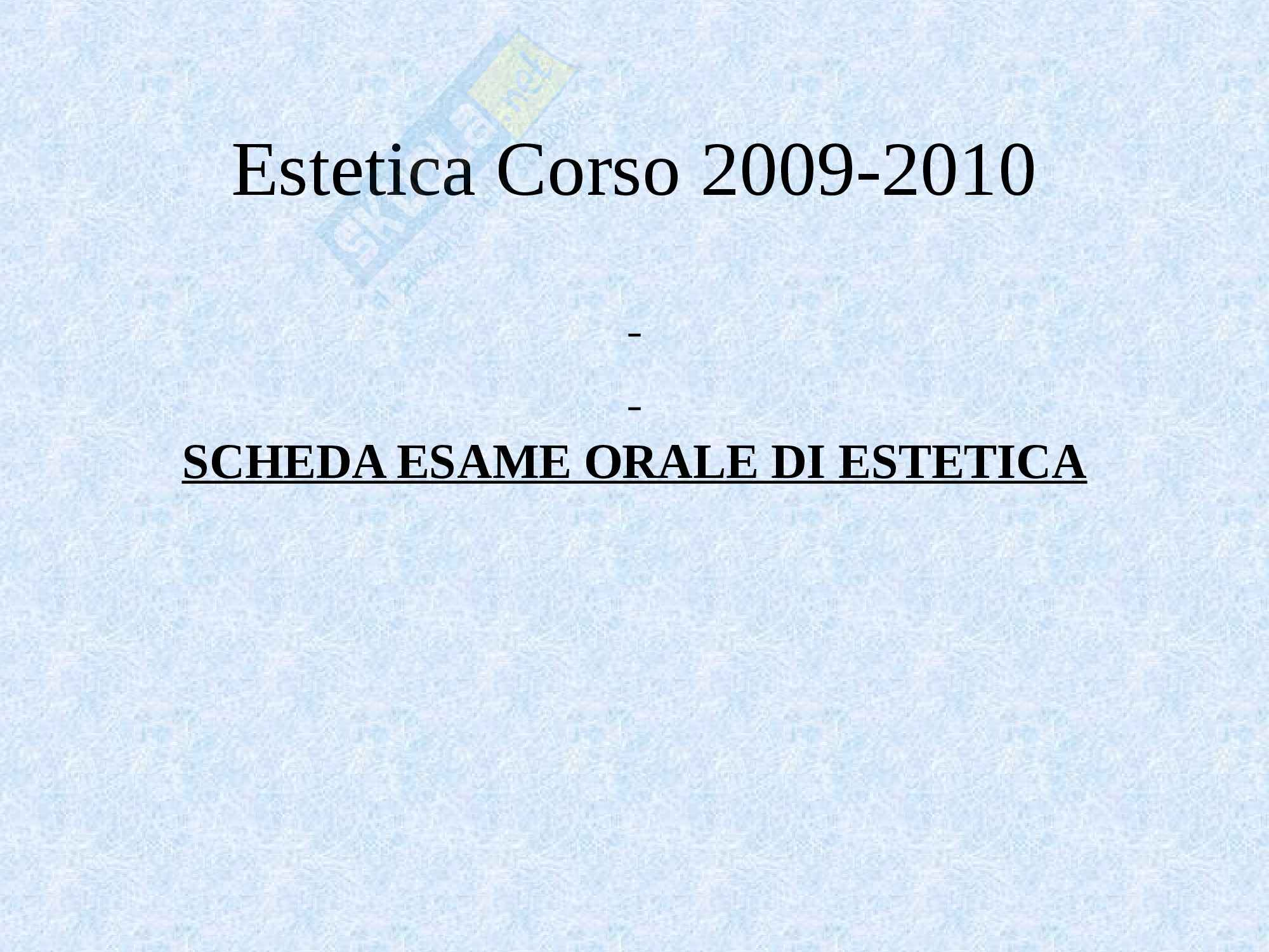 Estetica - lo studio dell'estetica Pag. 16