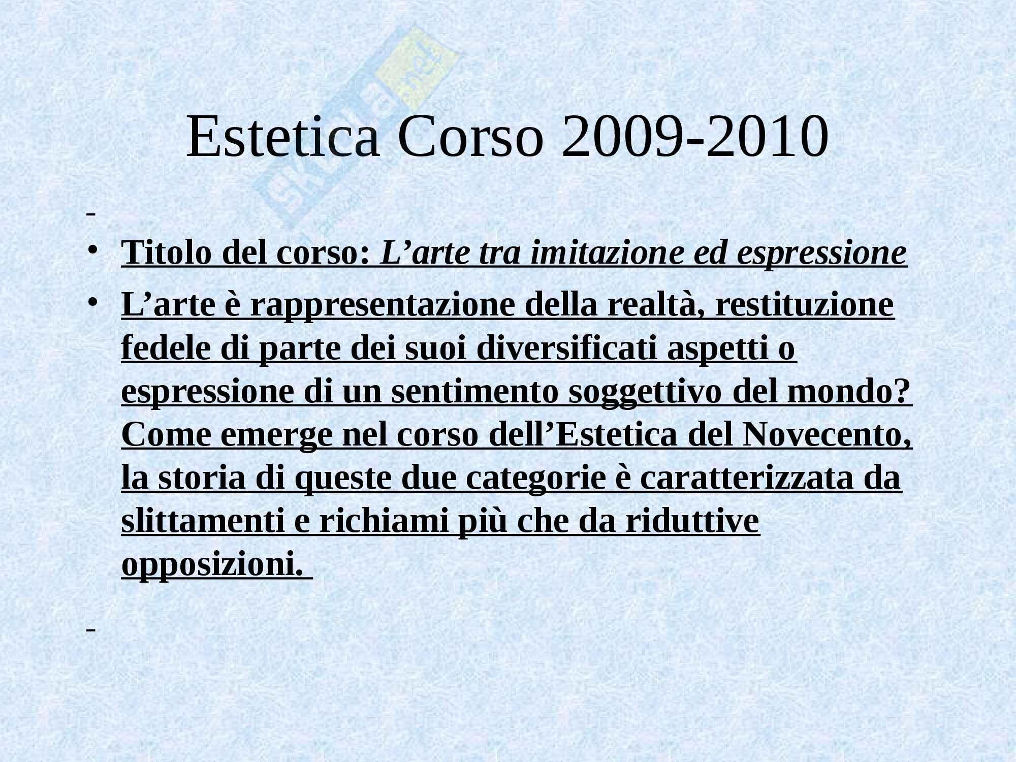 Estetica - lo studio dell'estetica Pag. 21