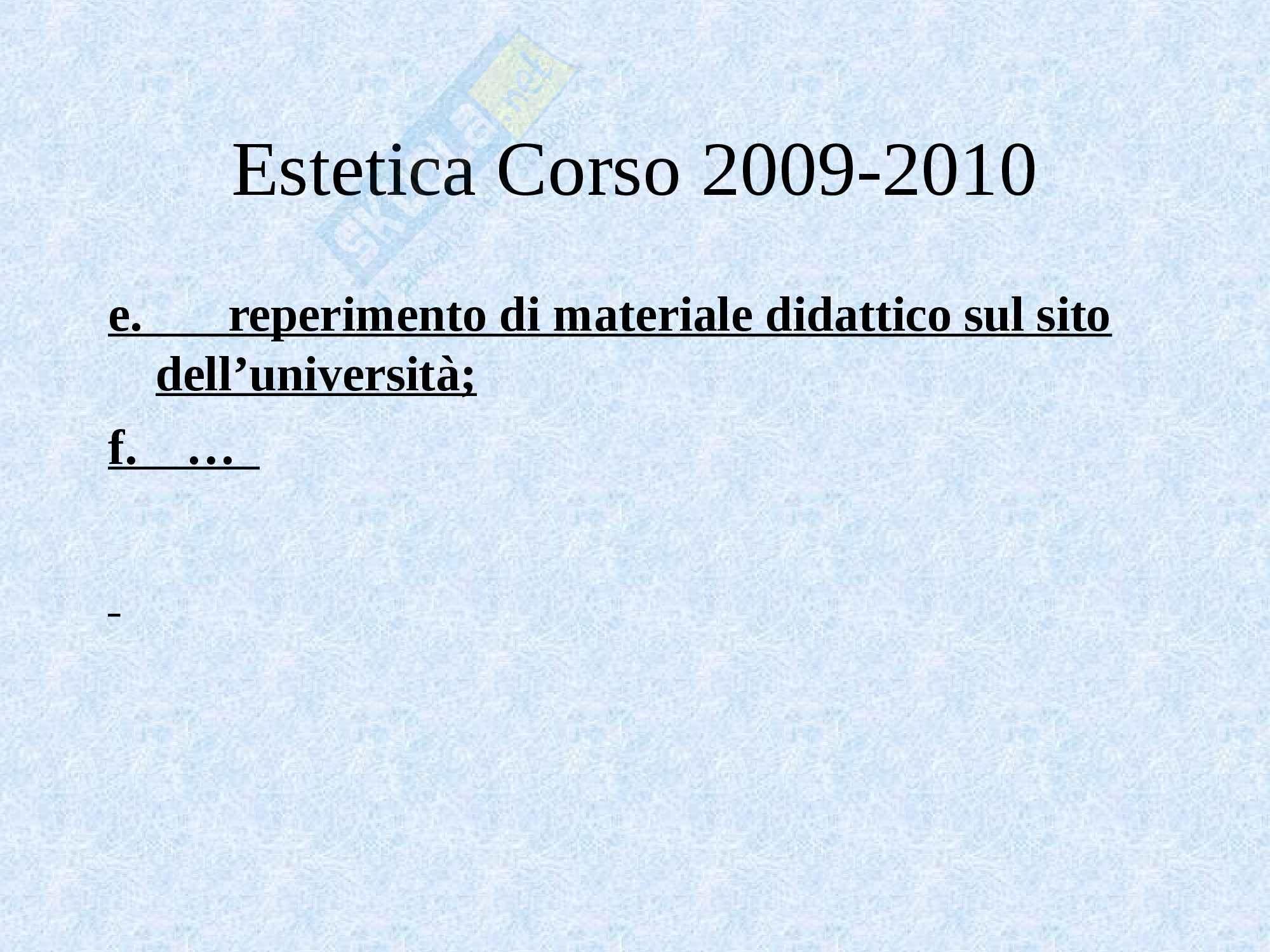Estetica - lo studio dell'estetica Pag. 6