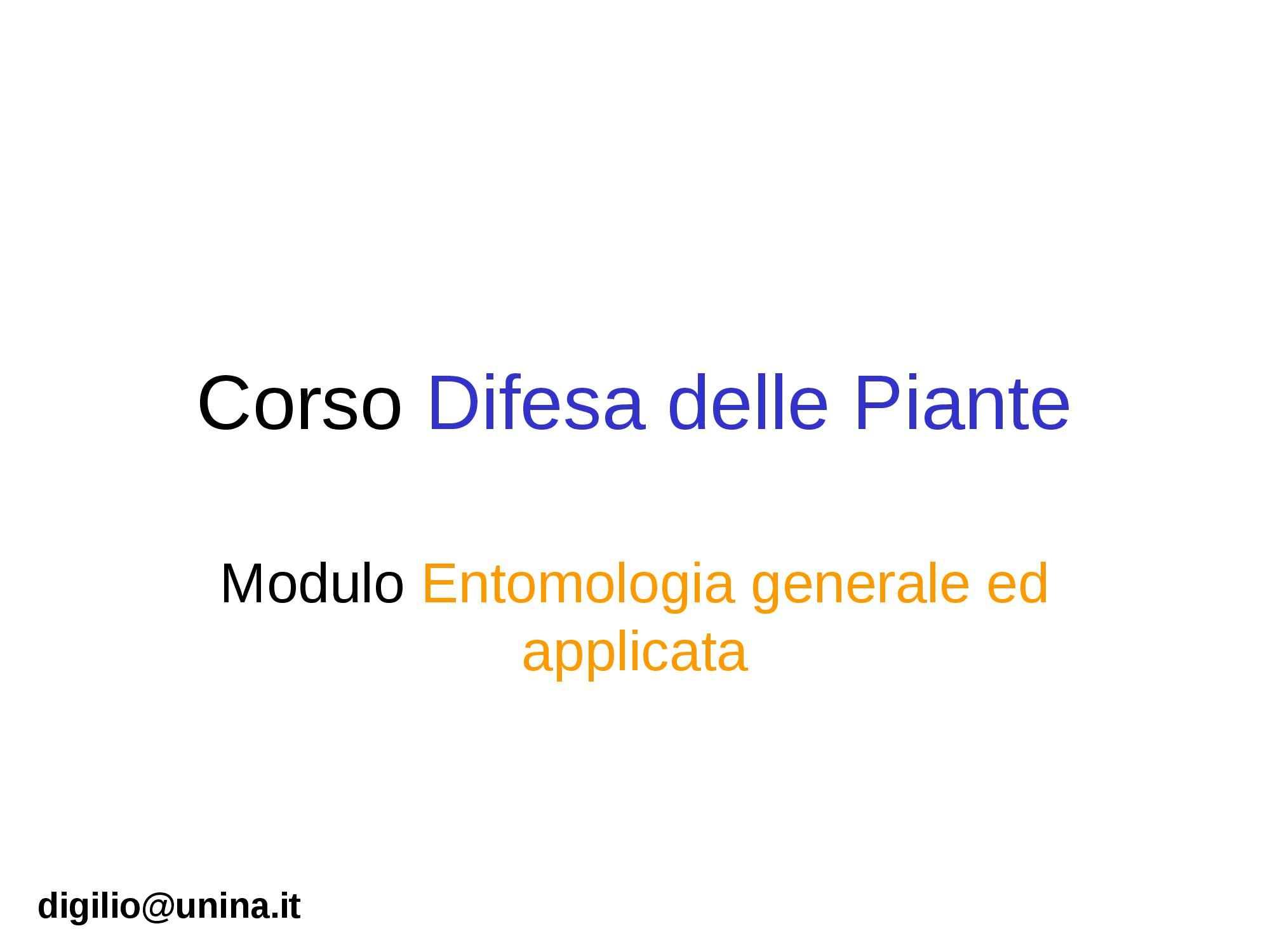 dispensa M. Digilio Difesa delle piante