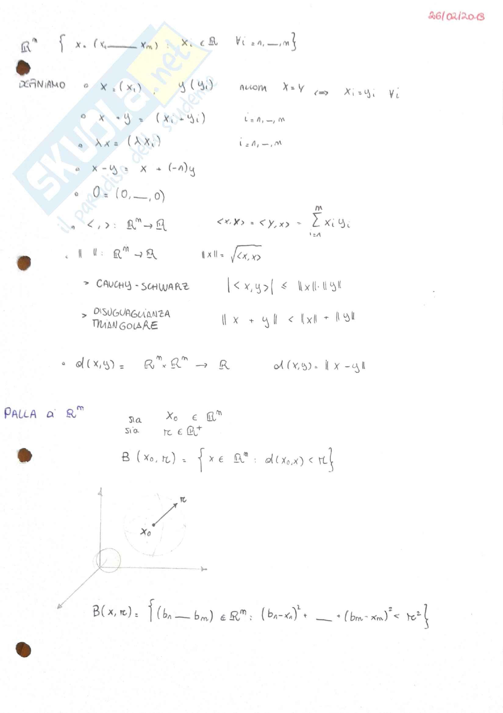 Appunti teorici di Analisi II per ingegneria