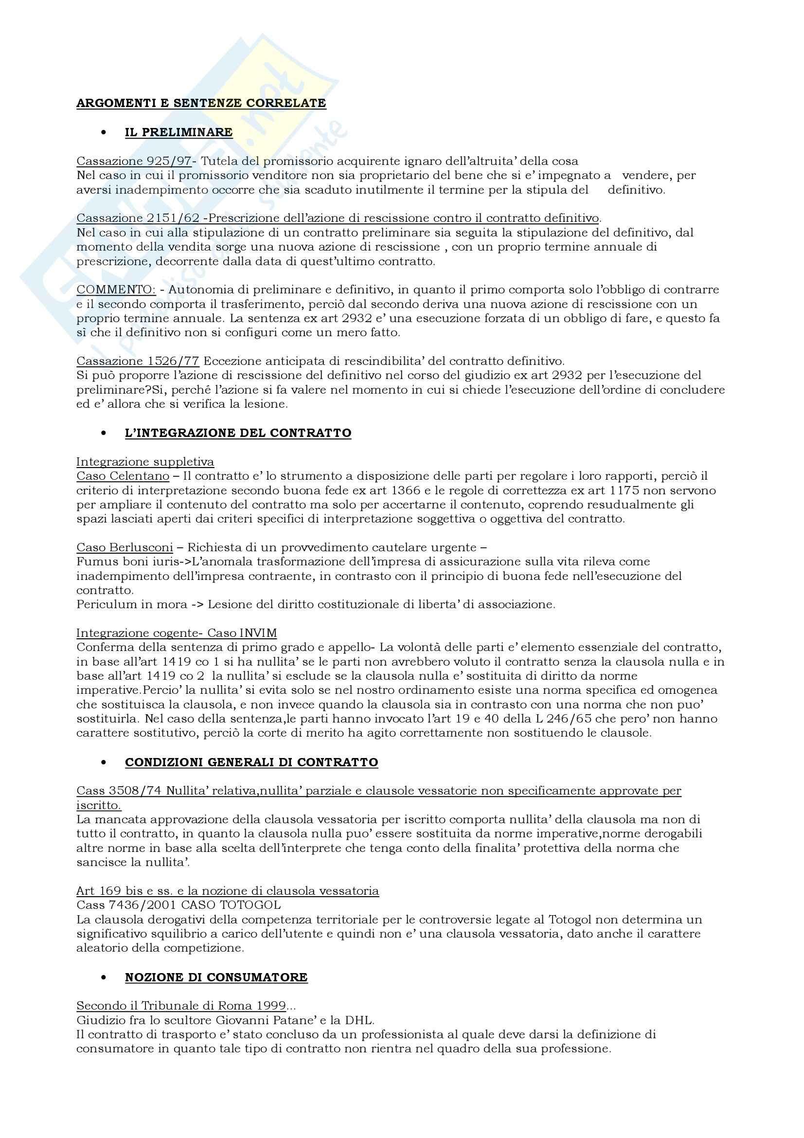 appunto M. Cavallaro Diritto privato