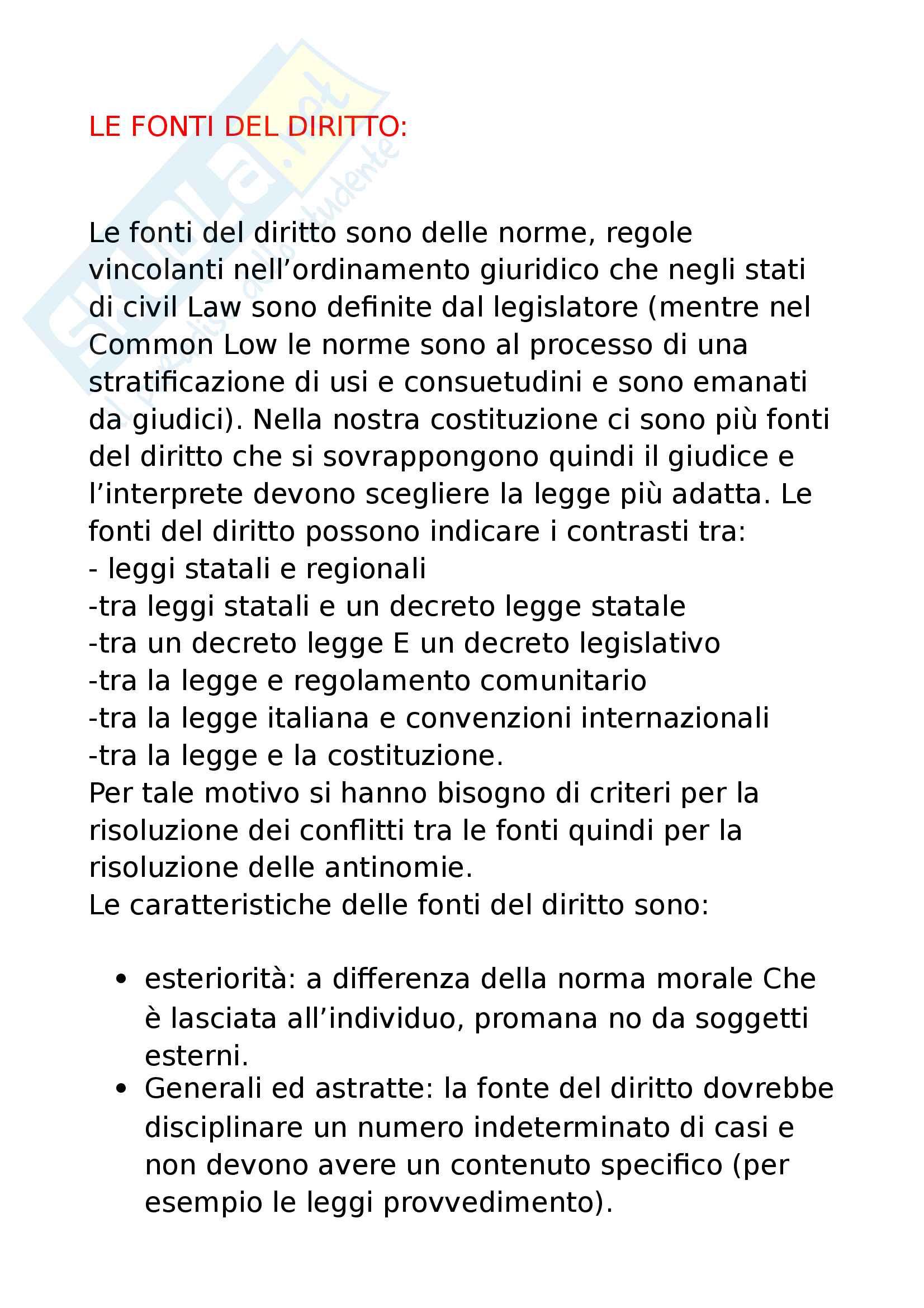 5 - Fonti del diritto con criteri di risoluzione leggi ordinarie riserva di legge e regolamenti