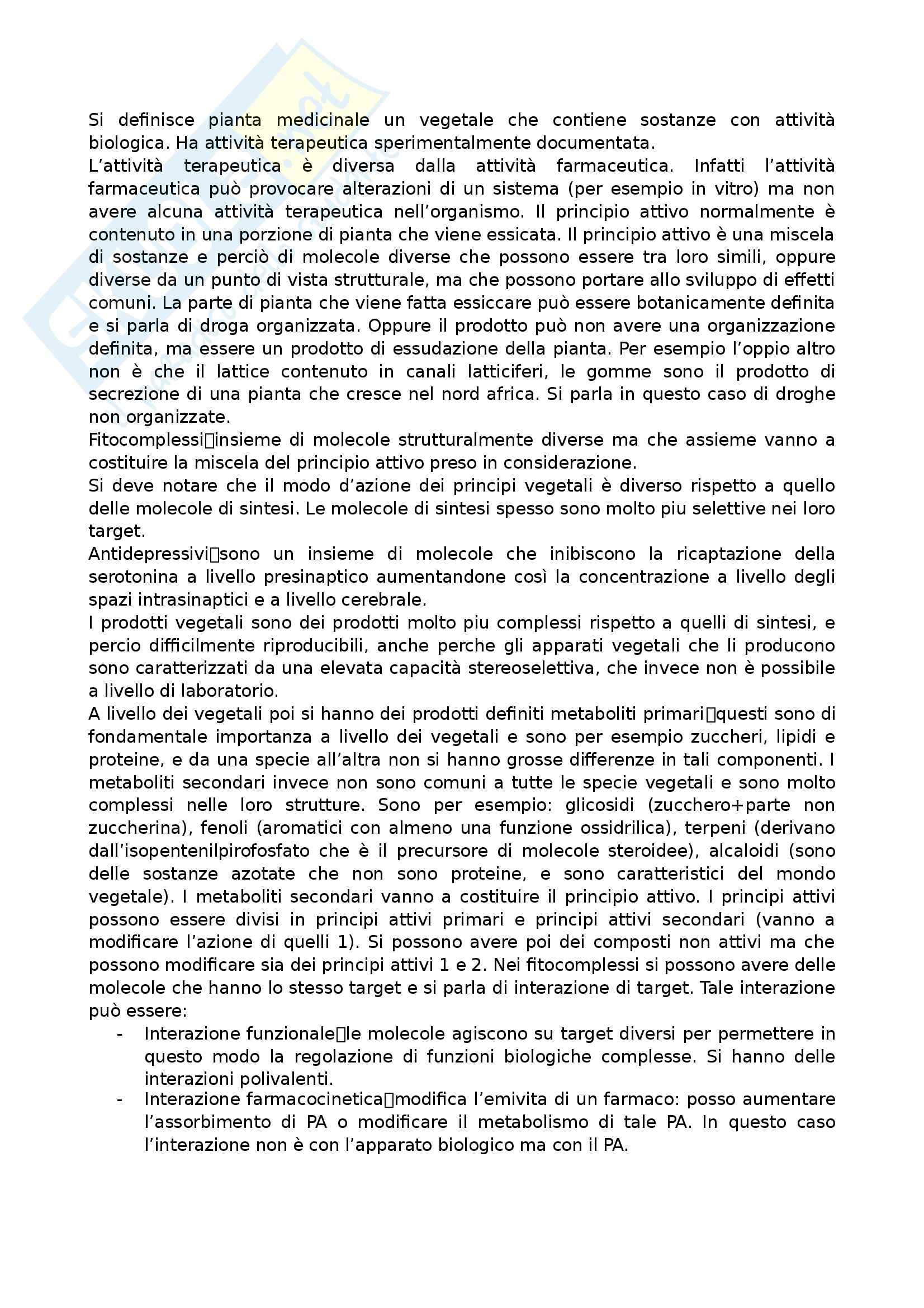 Farmacognosia - Appunti Pag. 2