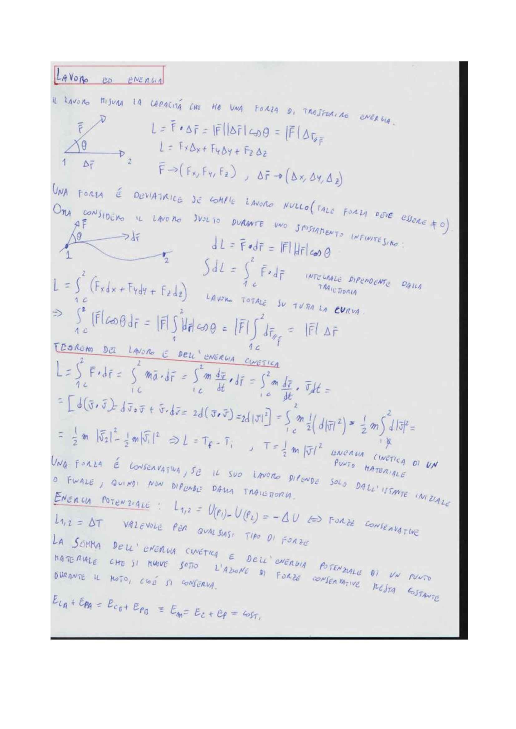 Fisica Generale I - lavoro, energia e momenti