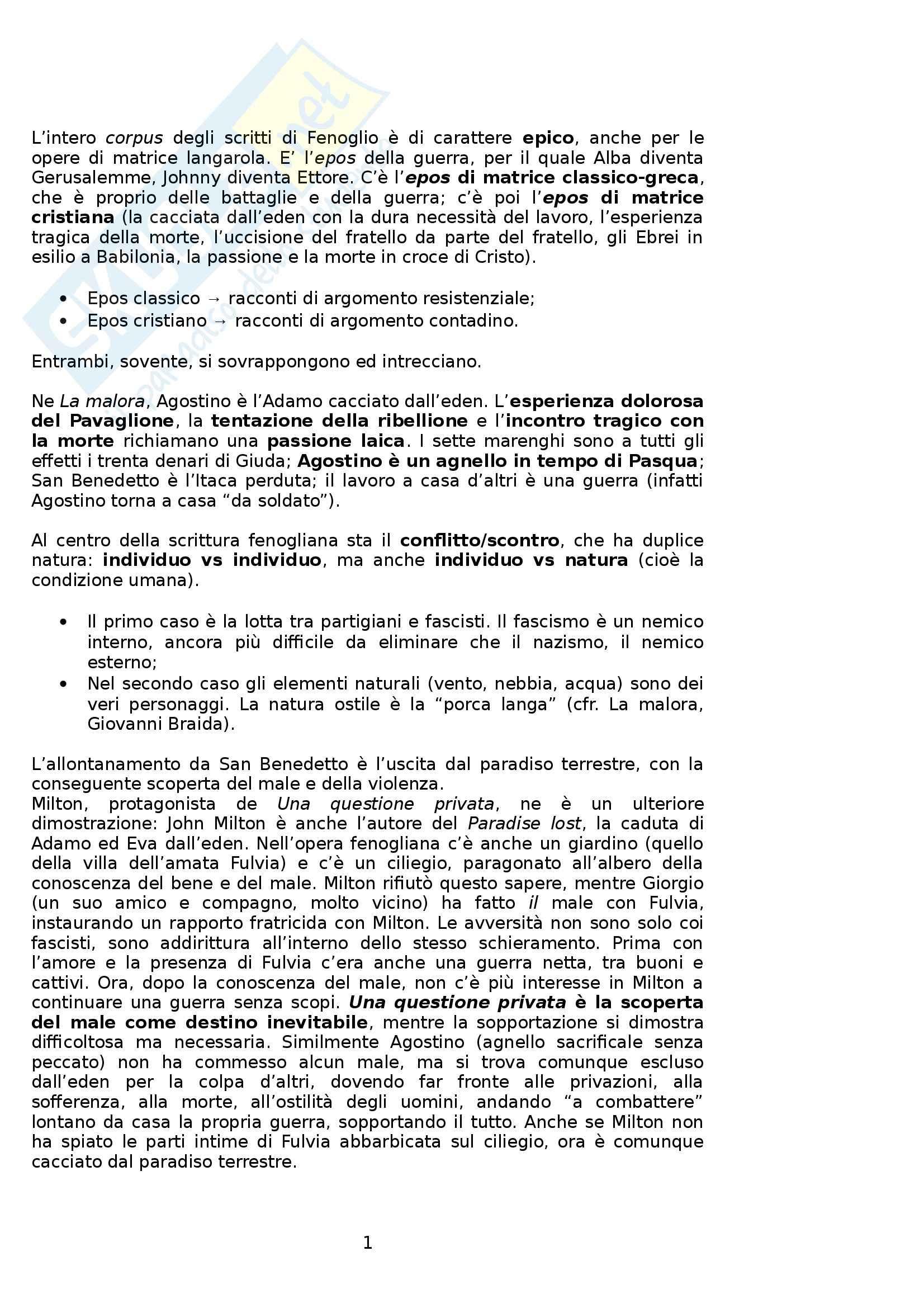 Riassunto esame Letteratura italiana, prof. Boggione, libro consigliato La sfortuna in favore