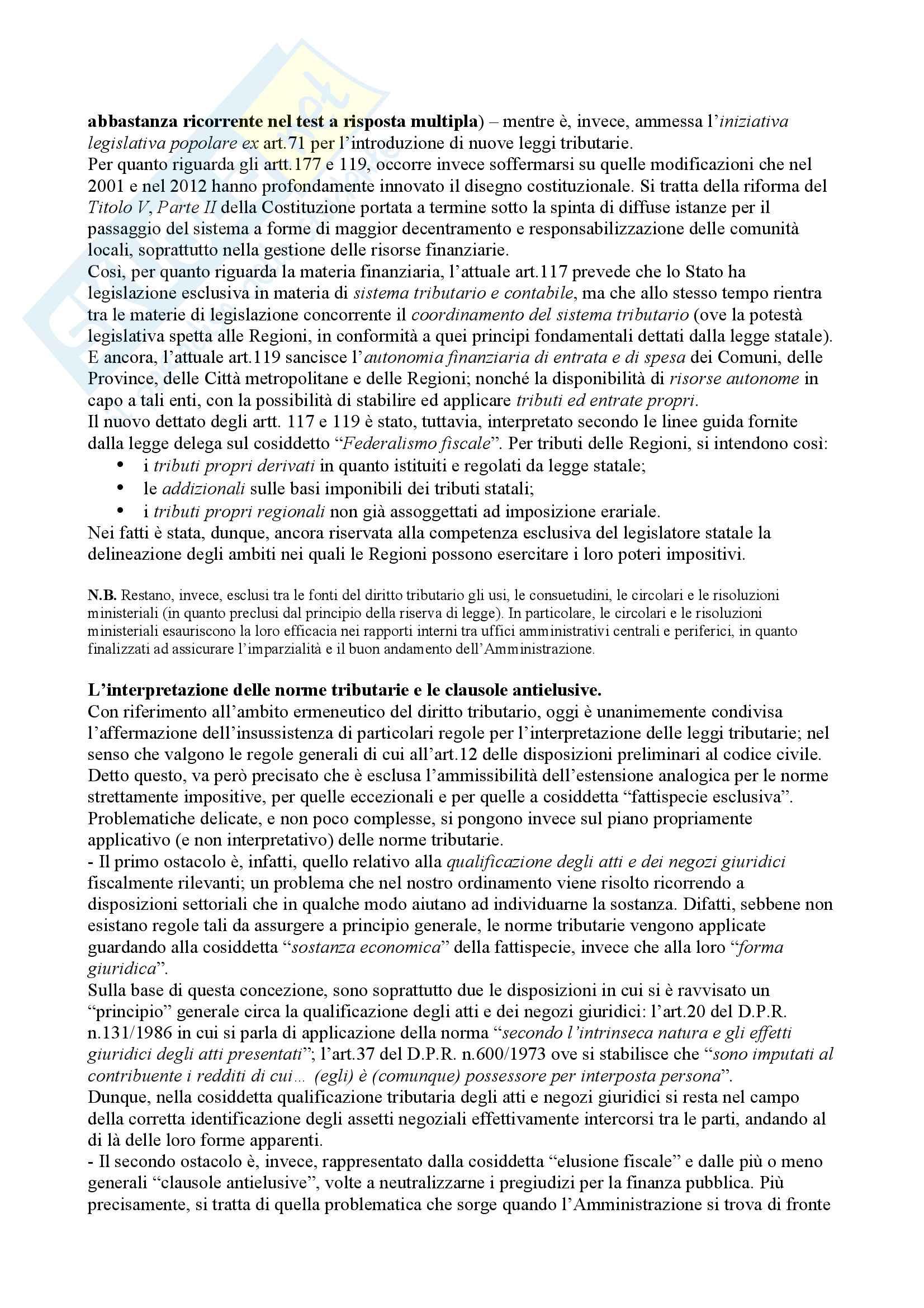 """""""Appunti"""" di Diritto Tributario - Simone Ventriglia Pag. 6"""