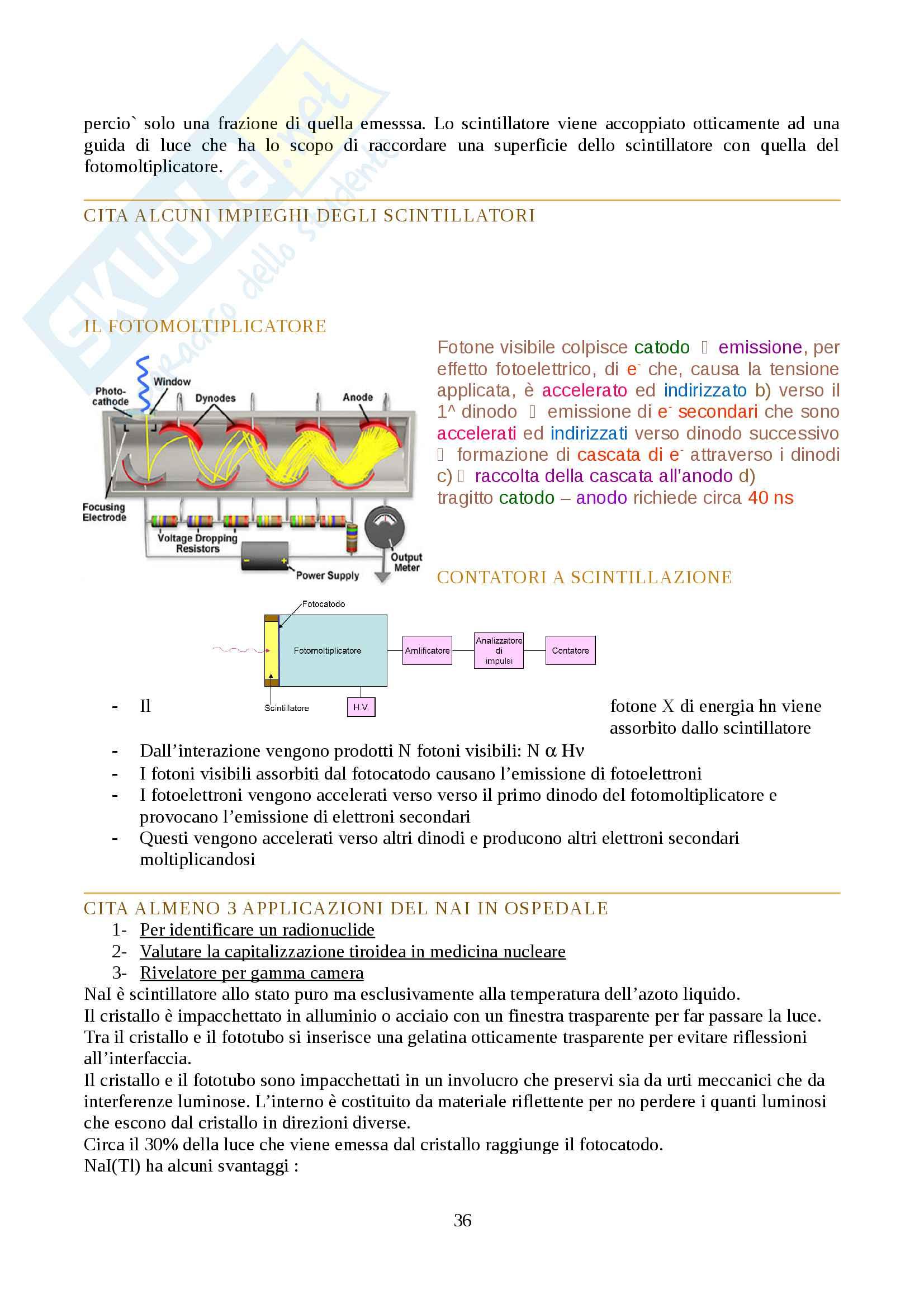Fisica delle radiazioni Pag. 36