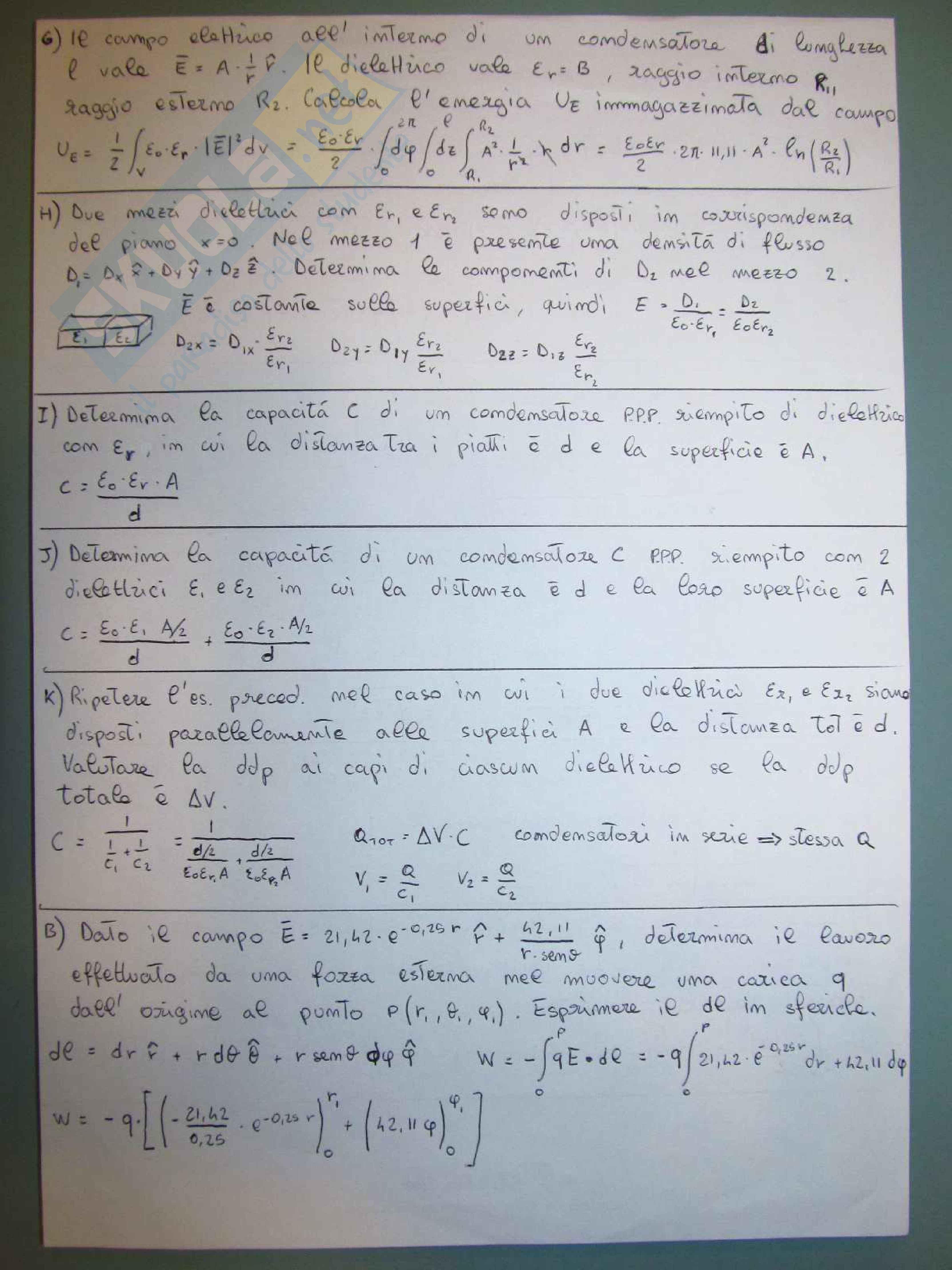 Fondamenti di Elettromagnetismo - Esercizi (homework) Pag. 6
