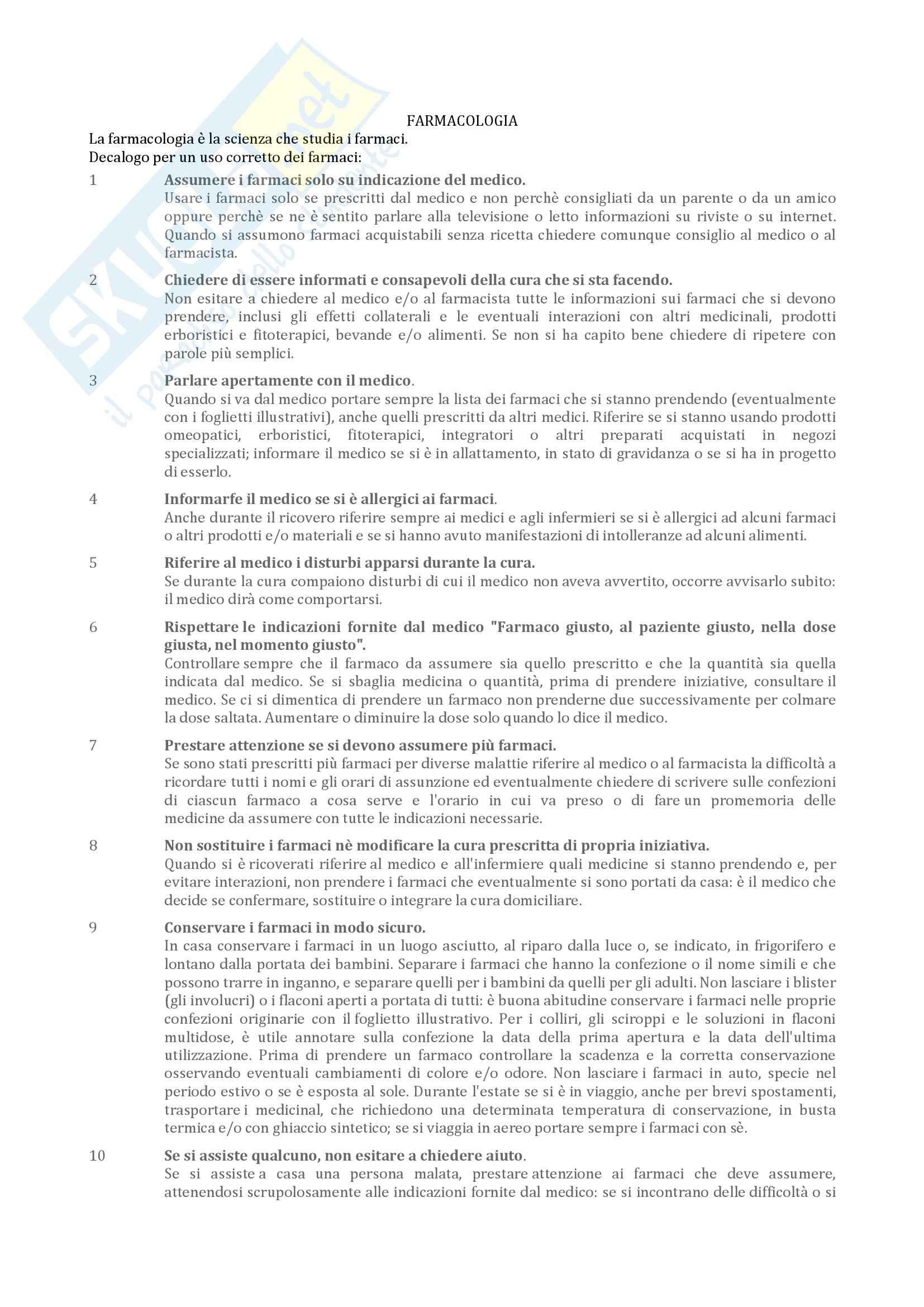 Riassunto esame Farmacologia, prof. Micheli, libro consigliato Farmacologia in odontoiatria, Amico Roxas