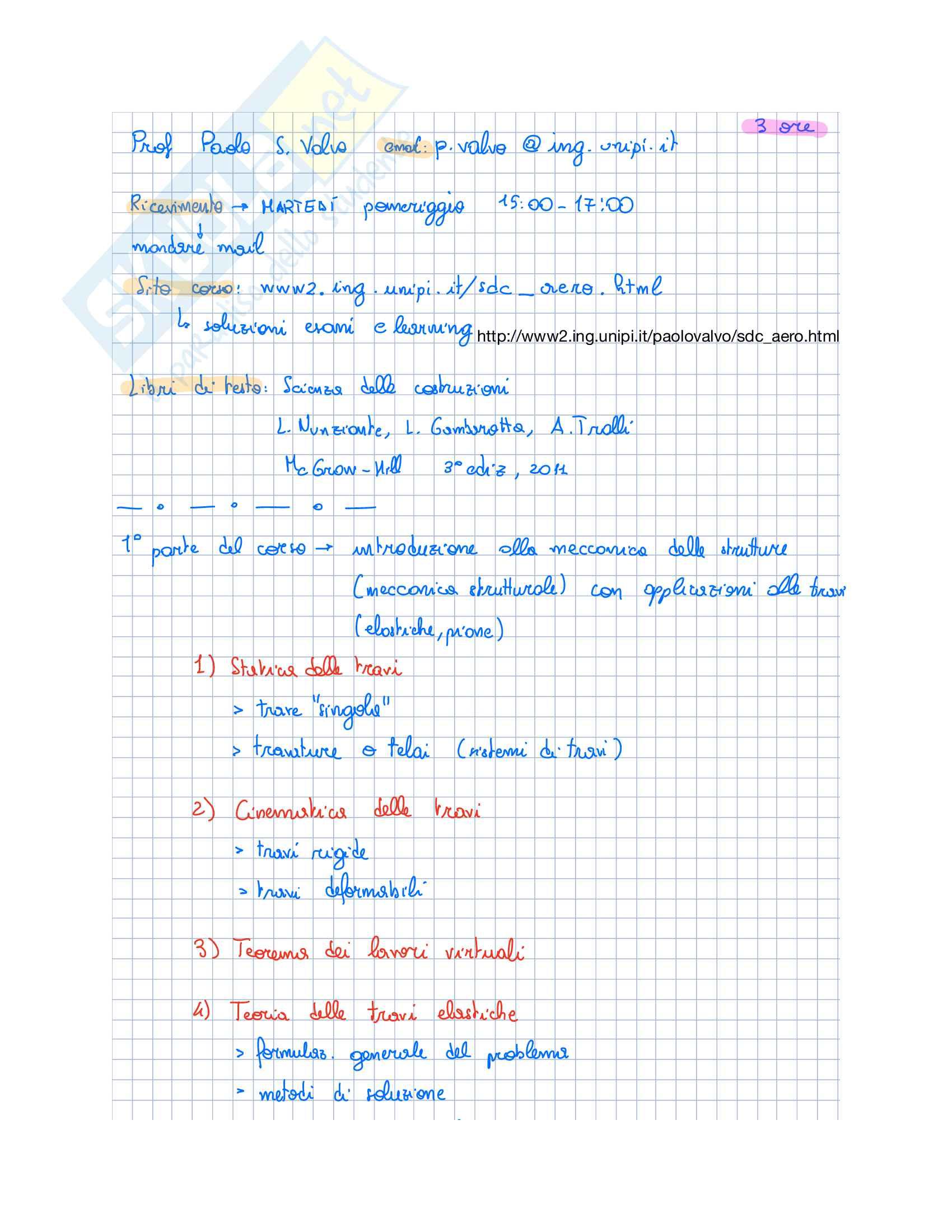 Appunti Scienza Delle Costruzioni I (parte 1)