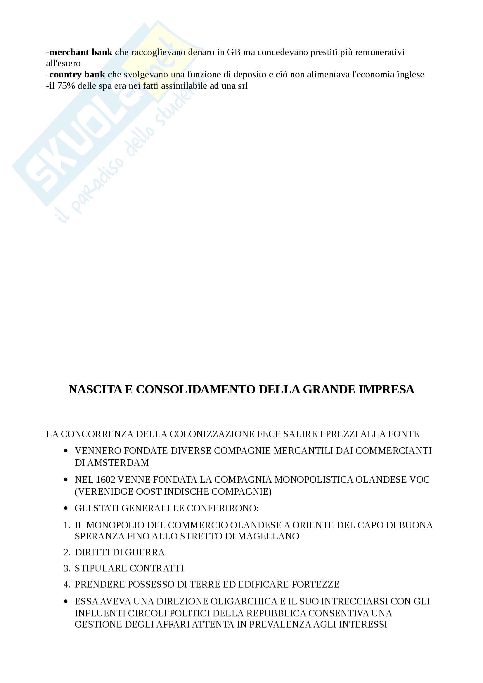 Storia dell'impresa (Appunti) Pag. 16