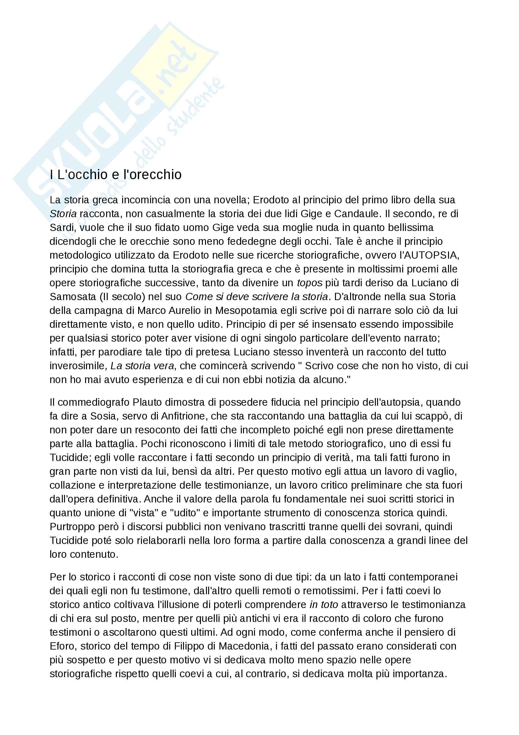 Riassunto esame Storia greca, prof. Antonetti, libro consigliato Prima lezione di storia greca, Canfora