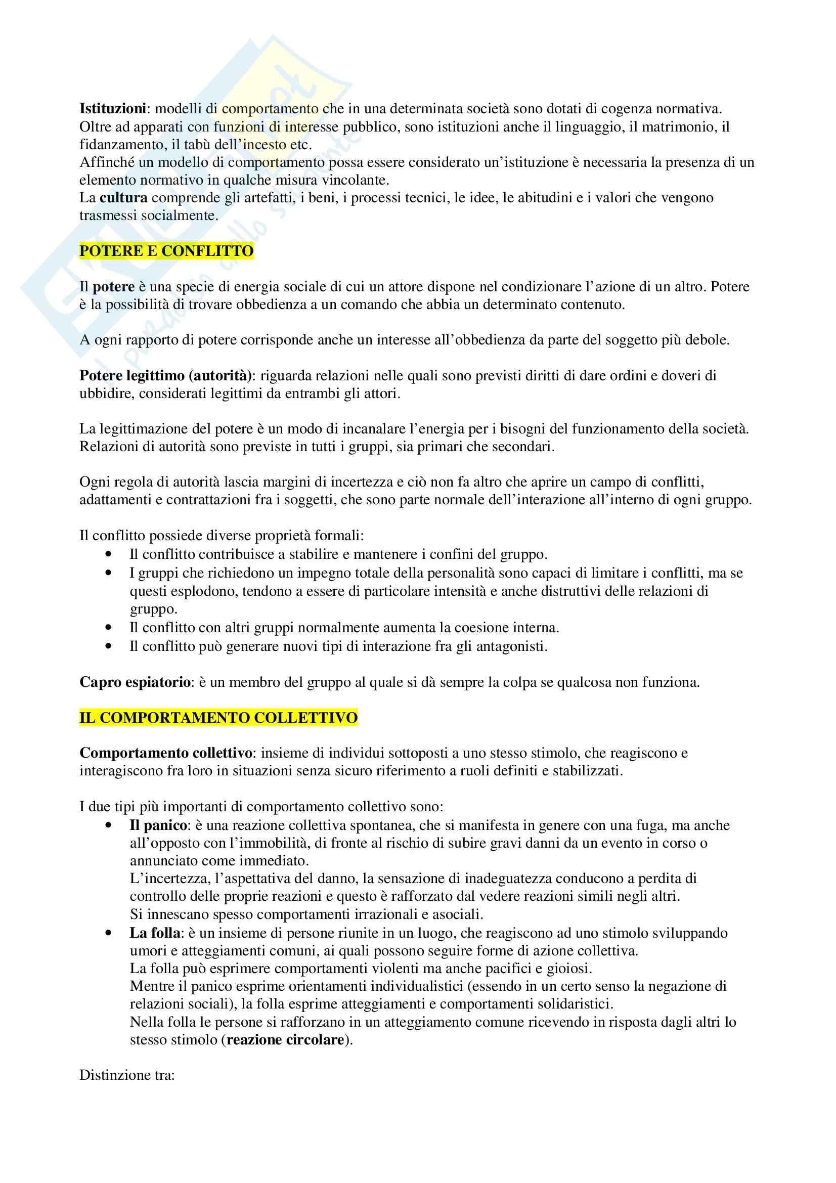Elementi di sociologia Pag. 11