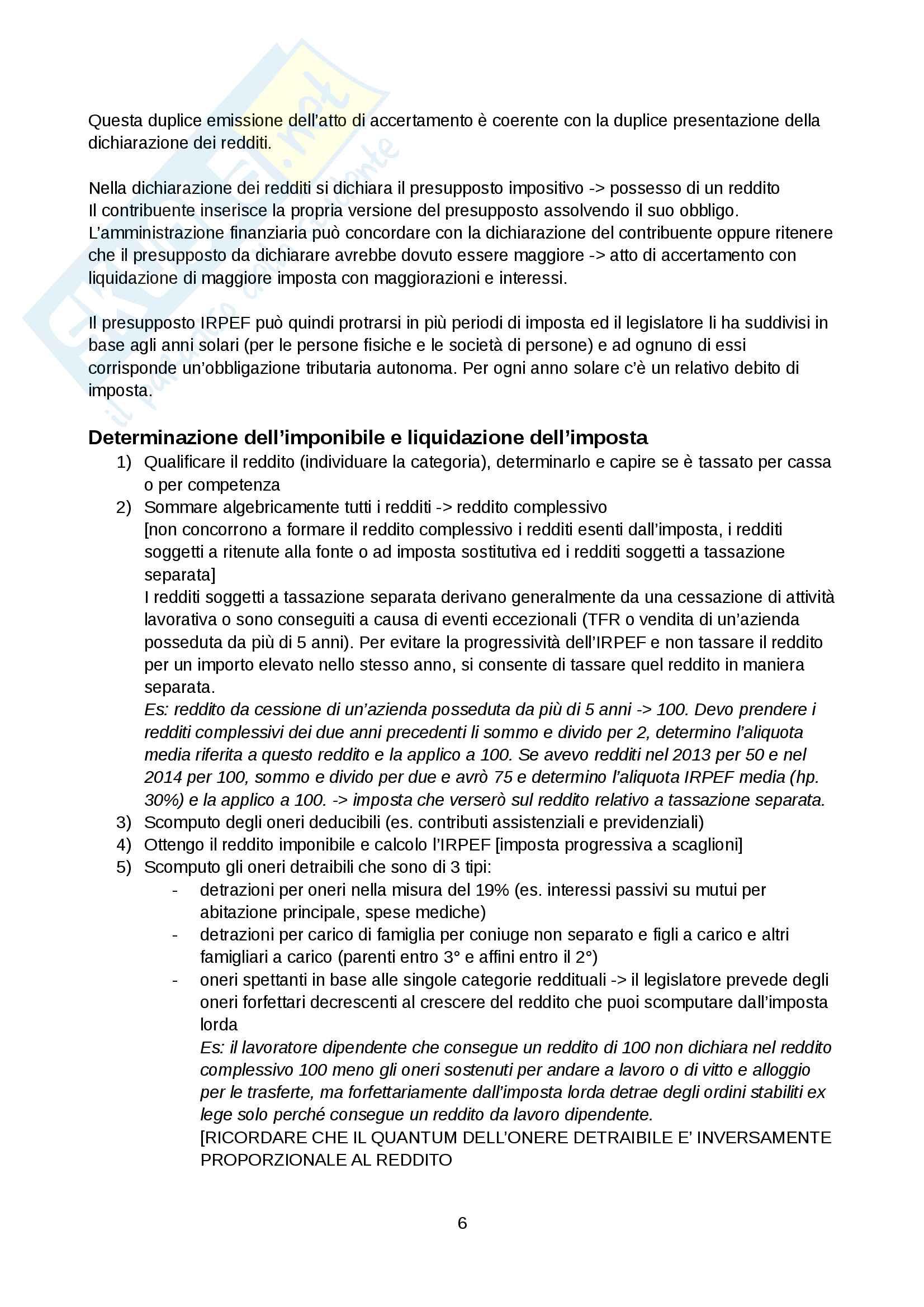 Appunti diritto tributario Pag. 6