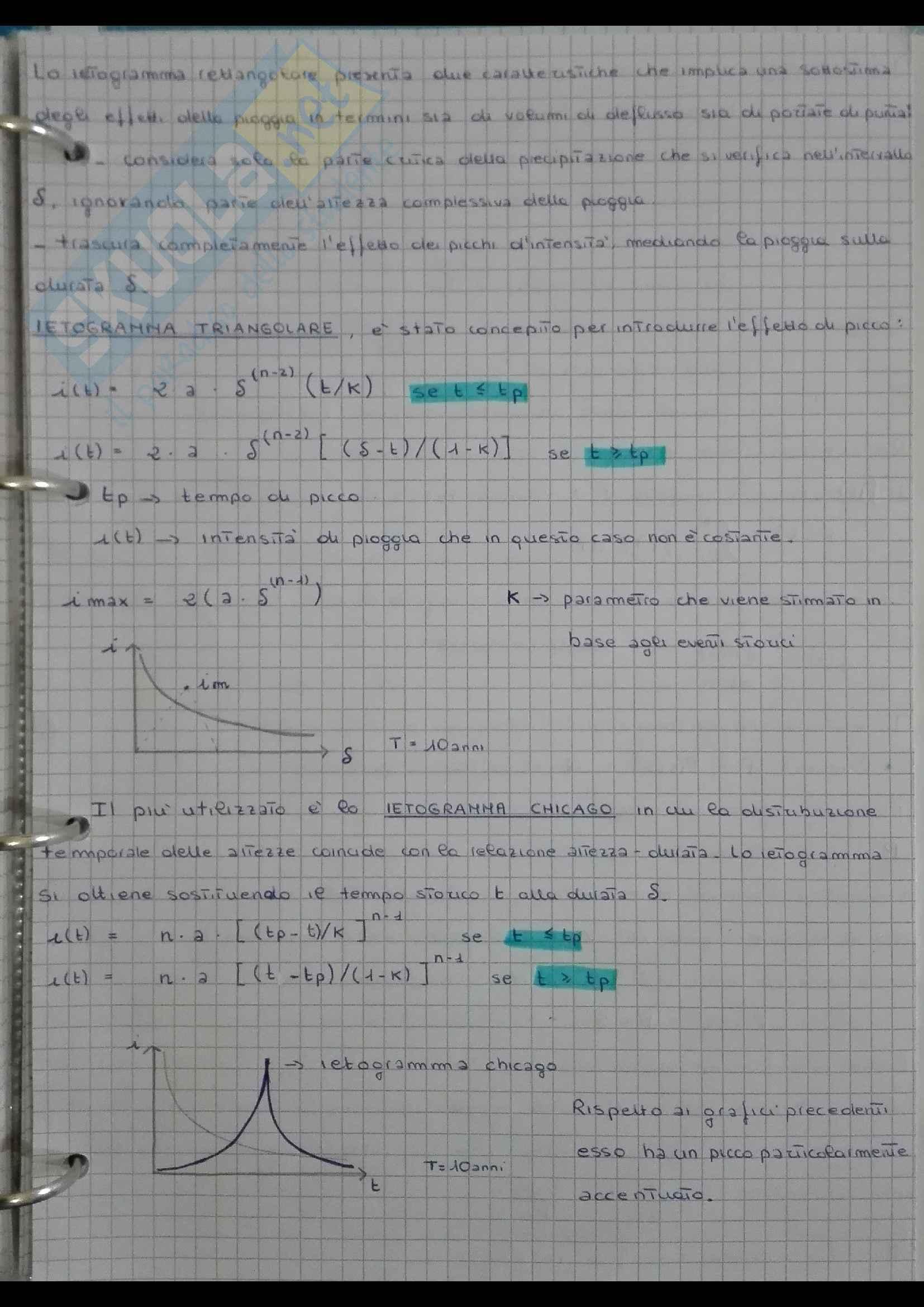 Appunti del corso di Costruzioni Idrauliche Pag. 31