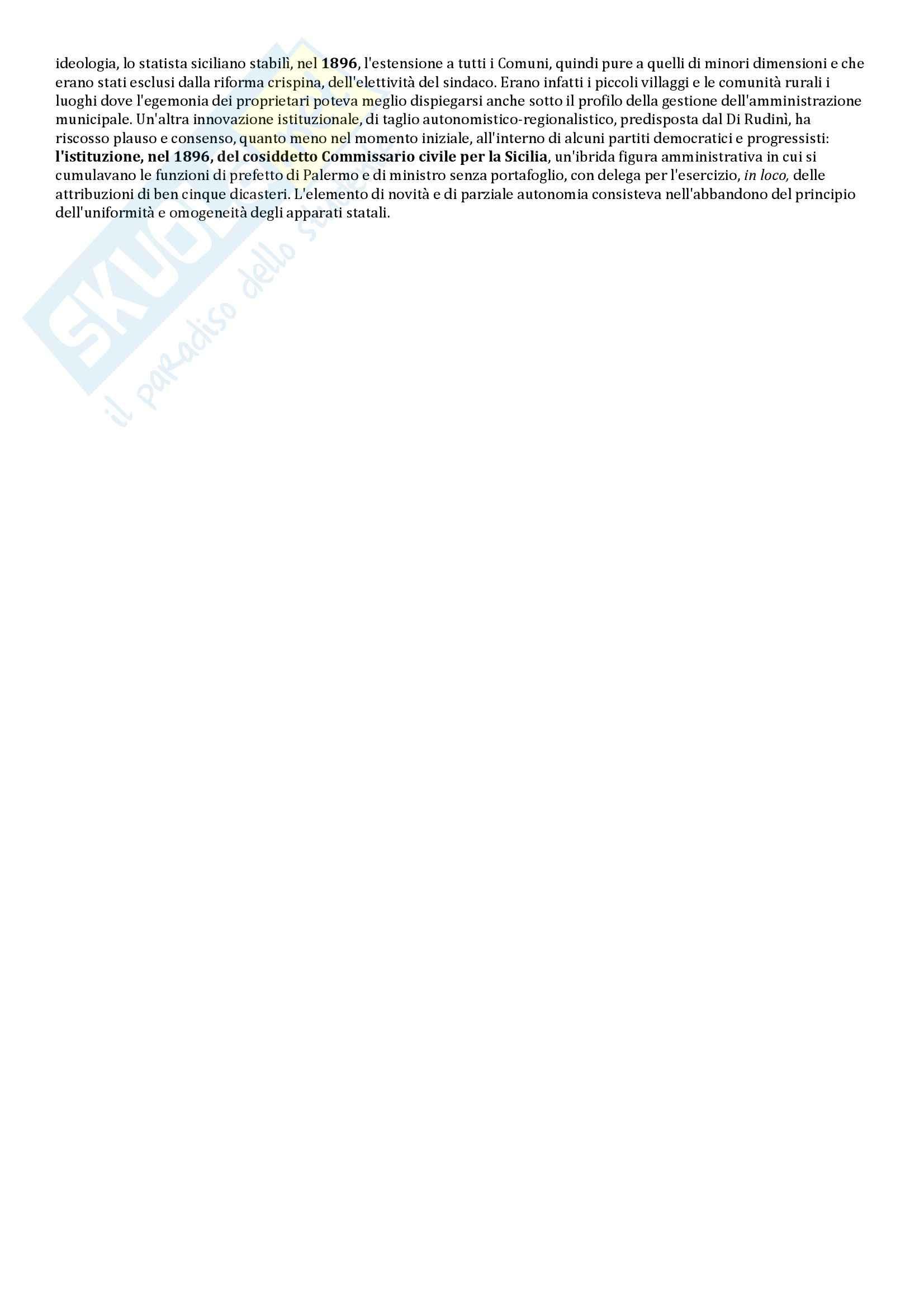 Riassunto esame Storia delle Istituzioni, prof. Bobbi, libro consigliato Stato e poteri locali in Italia, Aimo Pag. 11